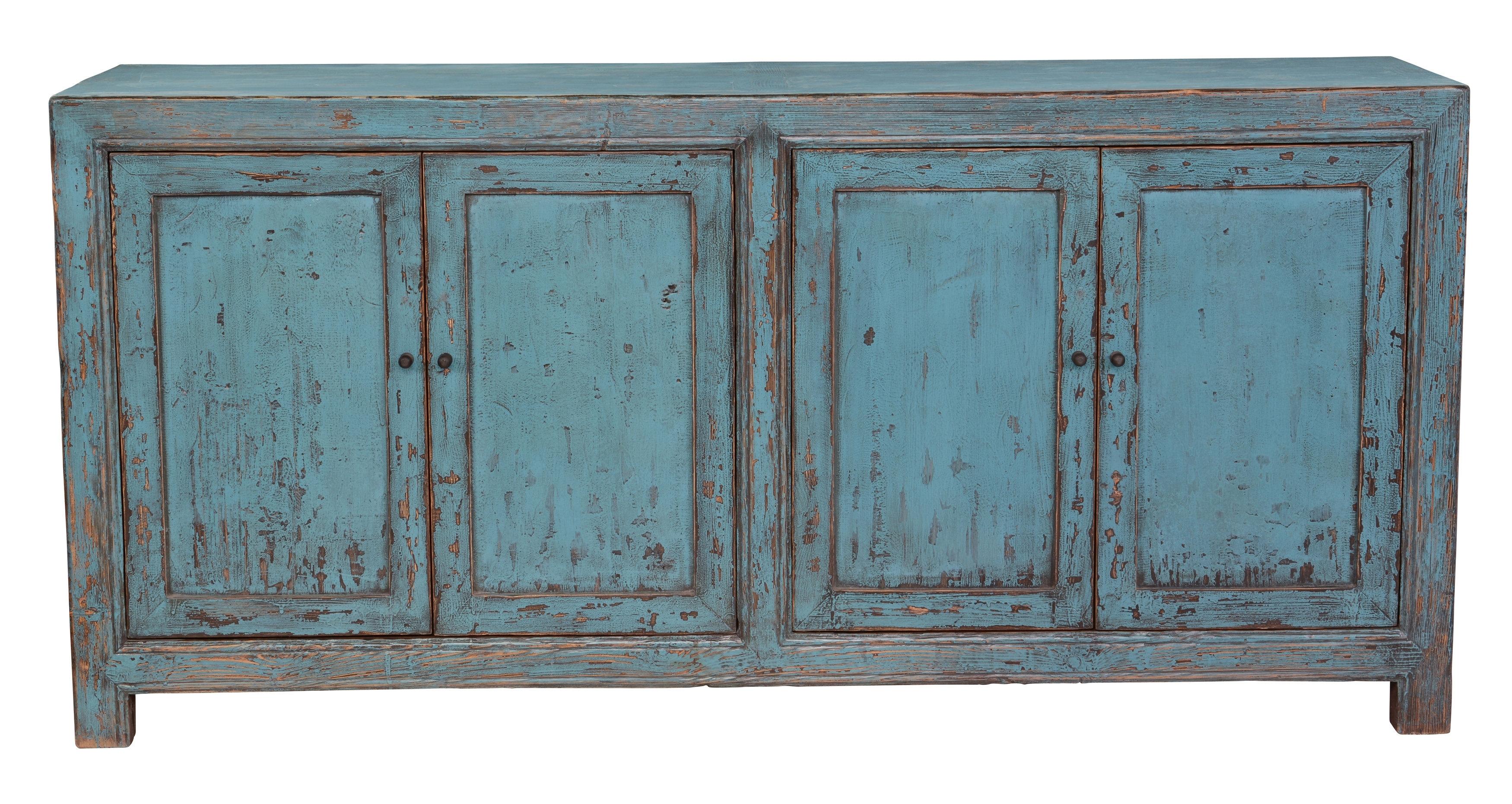 Inspiration about Tapscott Reclaimed Pine 4 Door Sideboard & Reviews | Joss & Main Within Recent Reclaimed Pine Turquoise 4 Door Sideboards (#1 of 20)