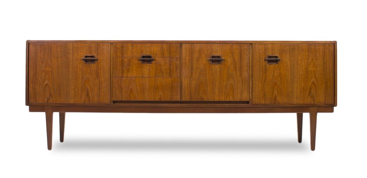 Inspiration about Teak Mid Century Modern Credenza,dresser,media Console, With Pertaining To Recent Moraga Live Edge 8 Door Sideboards (#6 of 20)