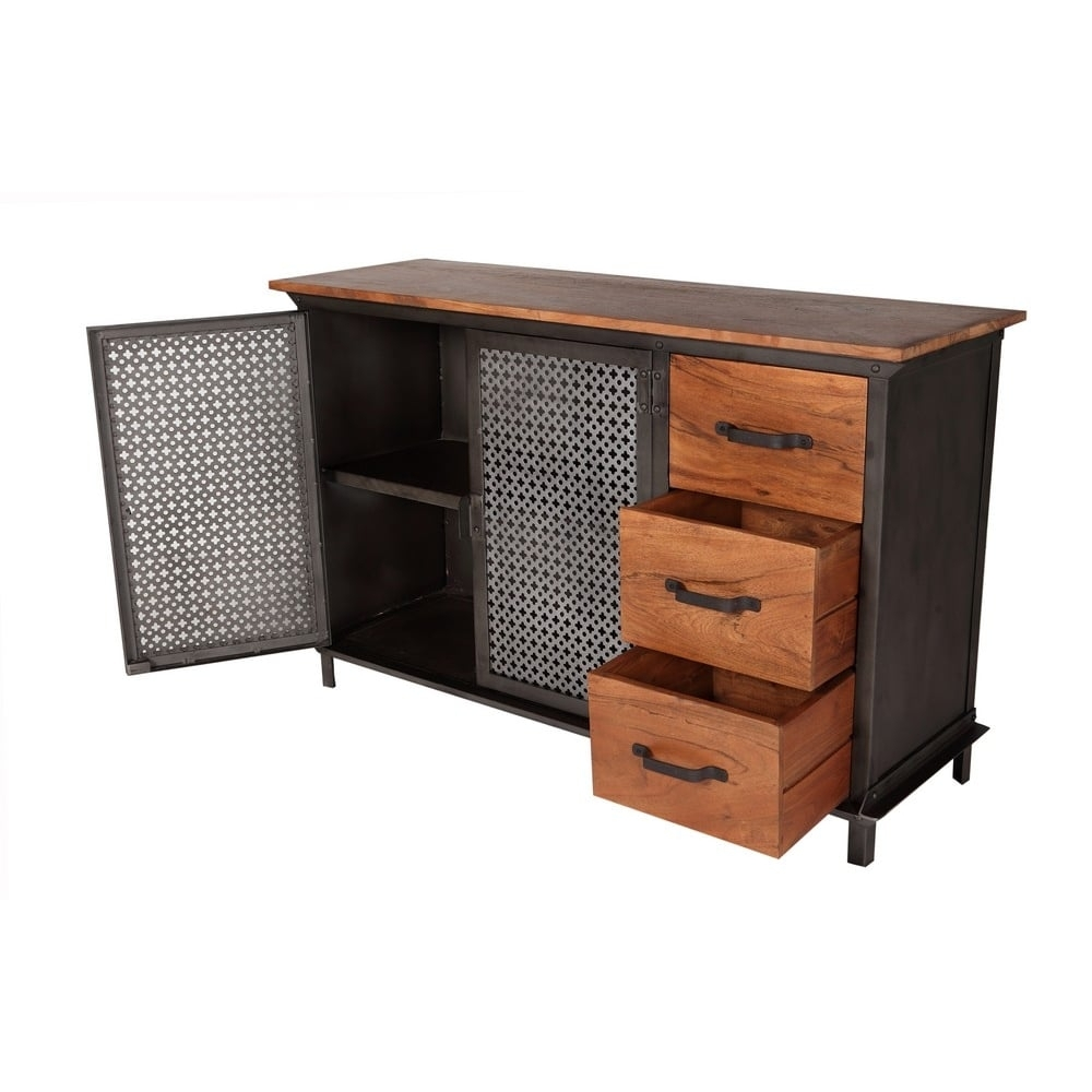 Telford Industrial Sideboard 3 Drawers  (#18 of 20)