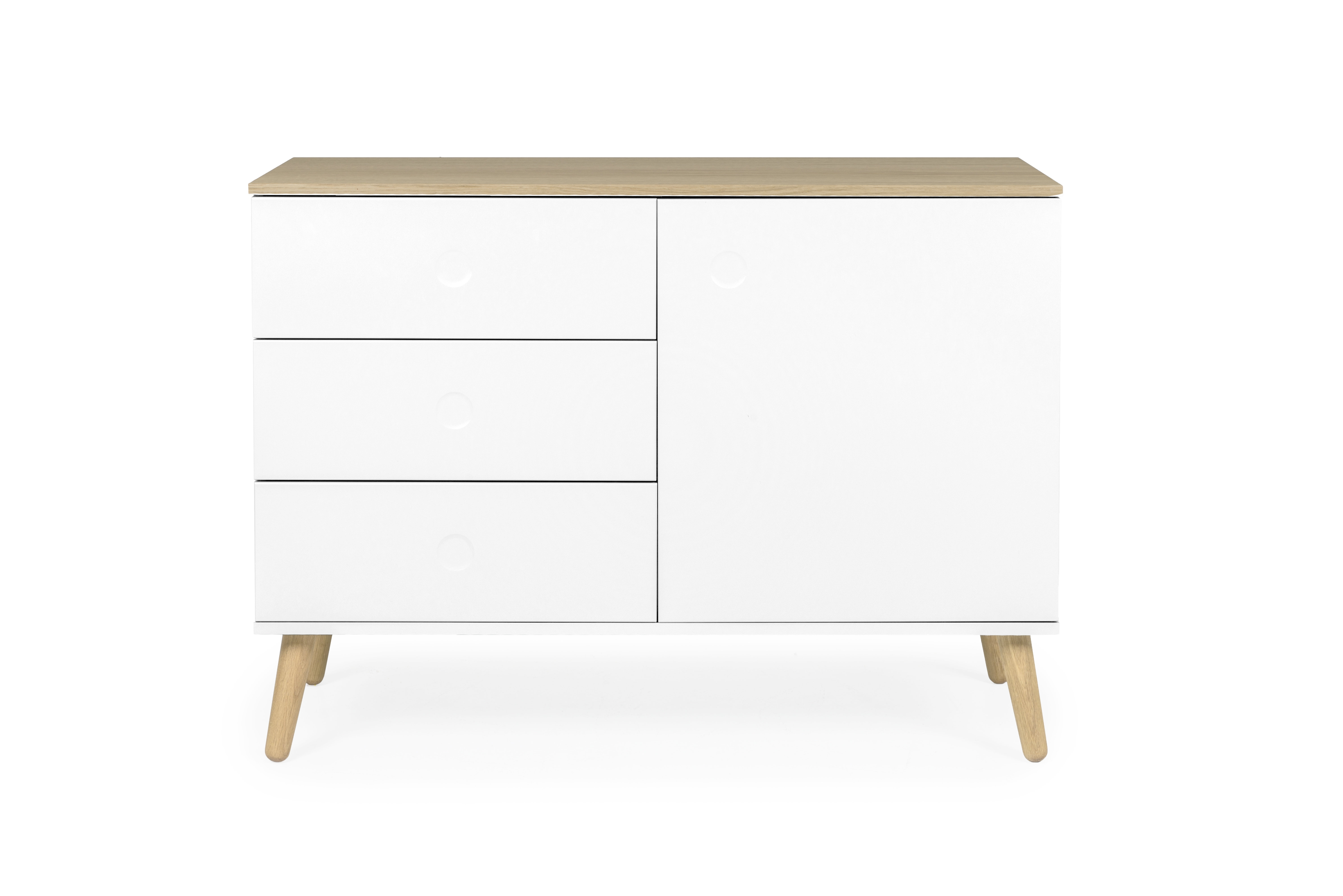 Inspiration about Tenzo Dot 1 Door 3 Drawer Sideboard & Reviews | Wayfair Pertaining To Most Popular 3 Door 3 Drawer Metal Inserts Sideboards (#15 of 20)