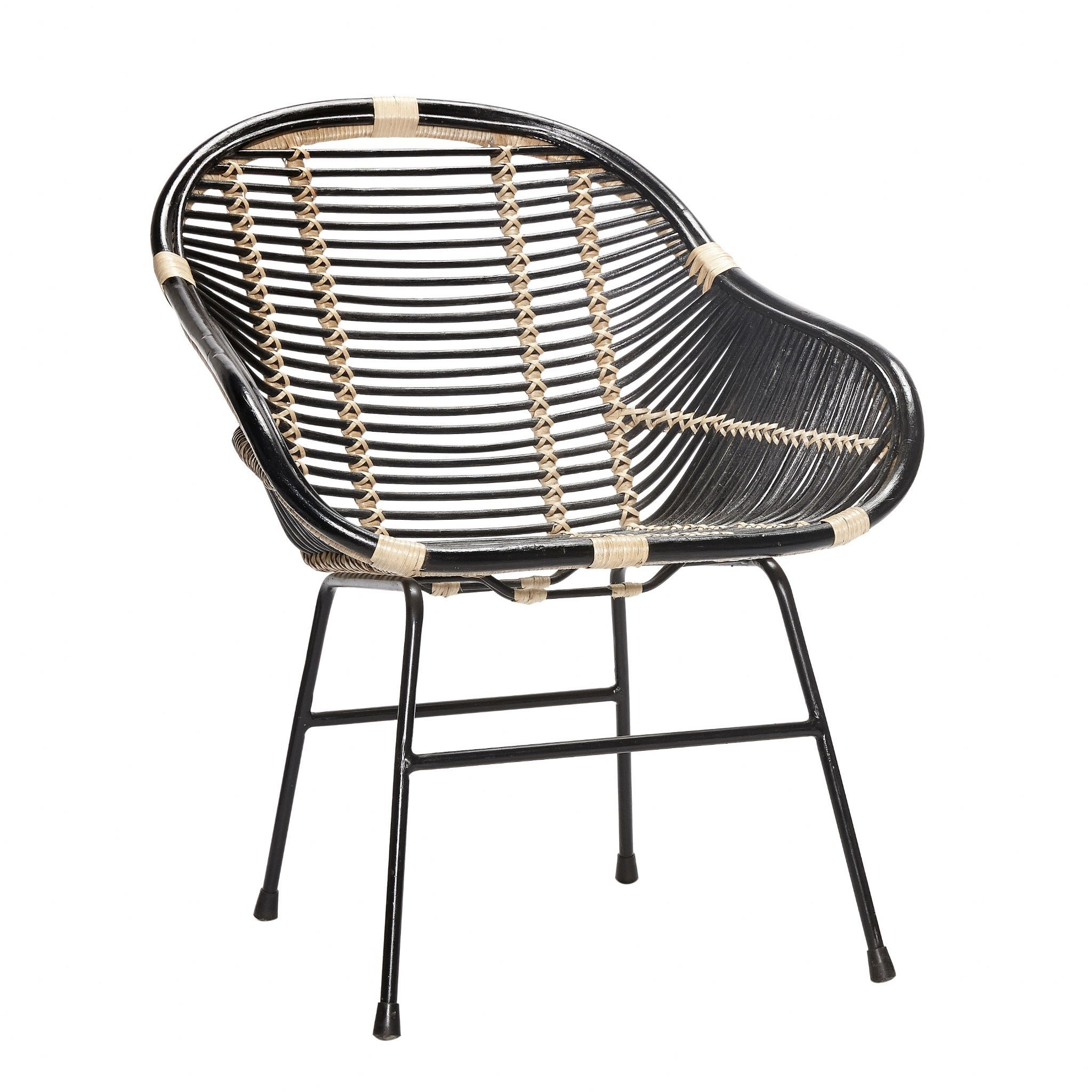 The Capri Black And Natural Rattan Chair Looks Great With A Within Widely Used Magnolia Home Entwine Rattan Arm Chairs (View 17 of 20)