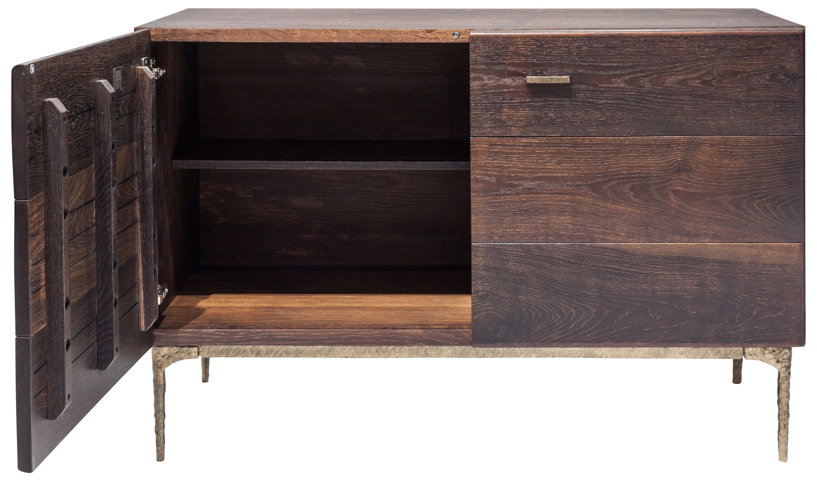 The Kulu Sideboard Buffet With Blackened Cast Iron Legs Features Fsc With Regard To Most Popular Black Oak Wood And Wrought Iron Sideboards (#18 of 20)