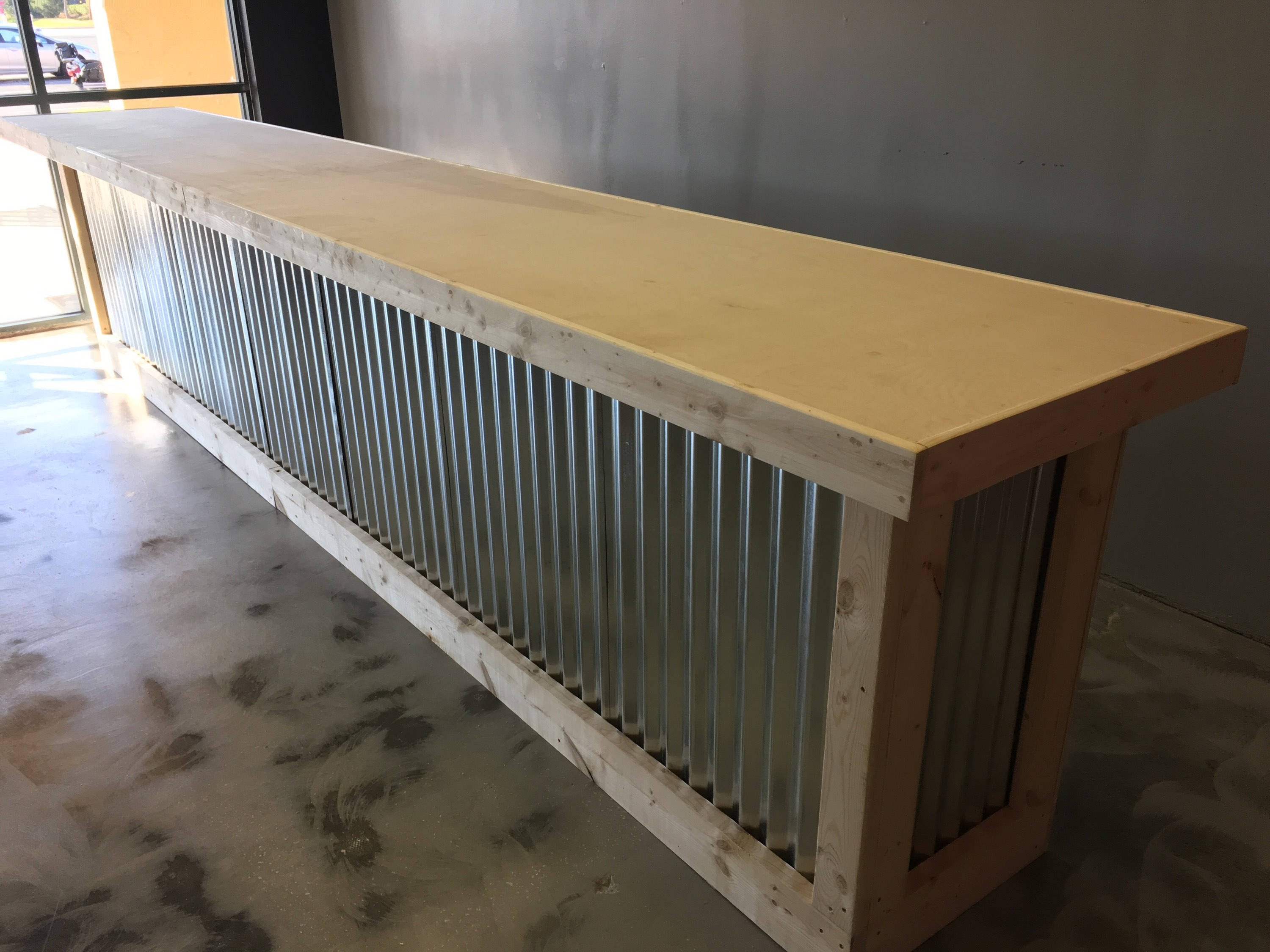 Inspiration about The Vapor – 16' Corrugated Metal Rustic Or Industrial Sales Counter Intended For 2017 Corrugated Metal Sideboards (#14 of 20)