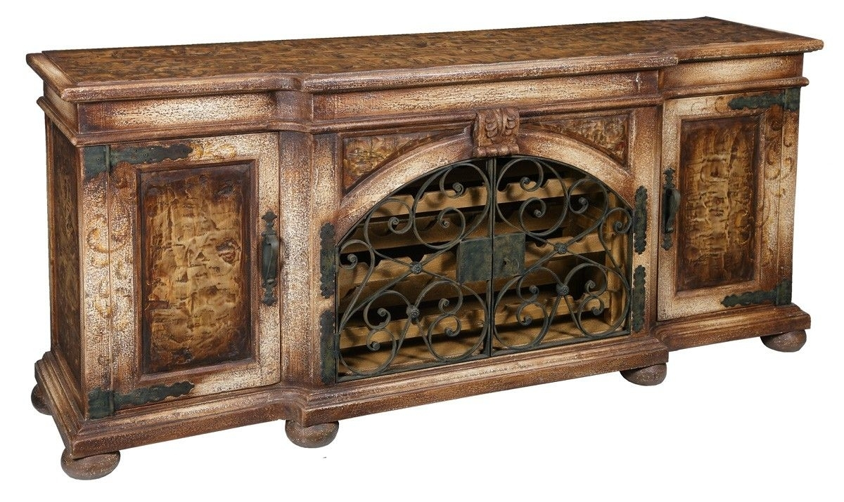 This Beautiful # Tuscan # Credenza Made With Recycled With Regard To Most Current Iron Pine Sideboards (#18 of 20)