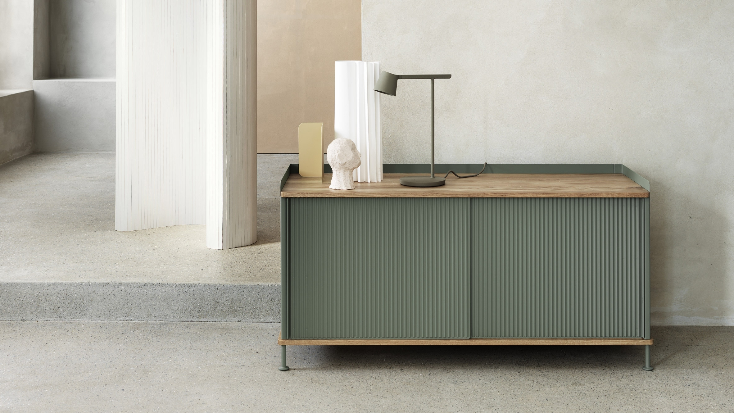 Thomas Bentzen Designs Factory Inspired Sideboard For Muuto With Most Recent Jigsaw Refinement Sideboards (#19 of 20)