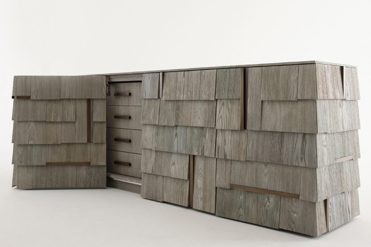 Inspiration about Tiles Sideboard – Pertaining To Most Current Burnt Tannin 4 Door Sideboards (#4 of 20)