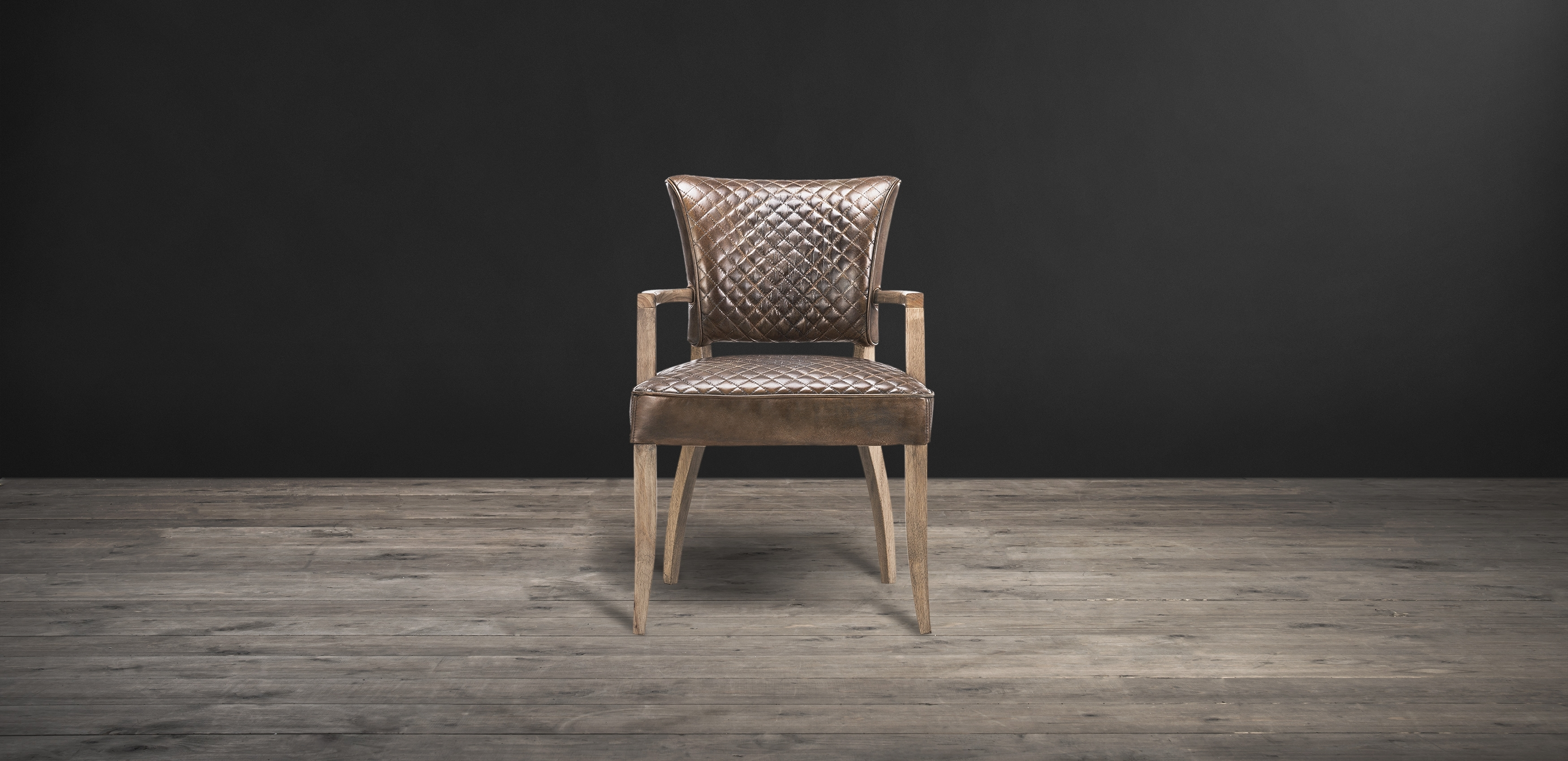 Timothy Oulton In Latest Quilted Brown Dining Chairs (#18 of 20)