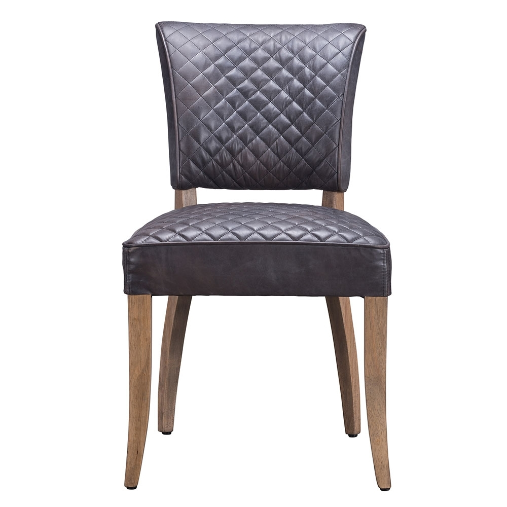 Inspiration about Timothy Oulton Mimi Destroyed Leather Quilted Dining Chair, Black Within Well Known Quilted Black Dining Chairs (#12 of 20)