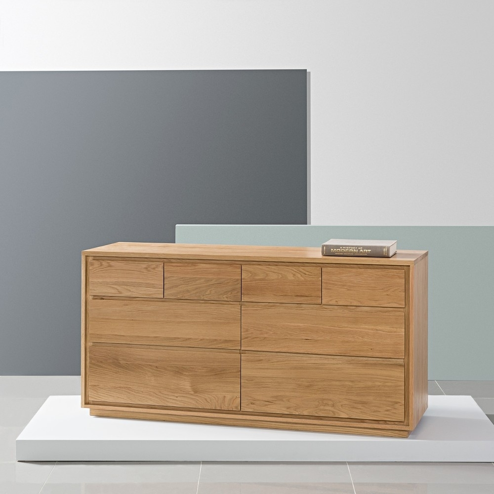 Inspiration about Tobias 8 Drawer Chest – Solid Oak – 150X45X76Cm – Icondesign Throughout Newest Tobias 4 Door Sideboards (#2 of 20)