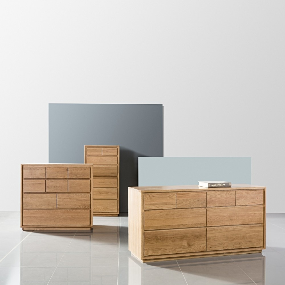 Inspiration about Tobias 8 Drawer Chest – Solid Oak – 150x45x76cm – Icondesign Within Best And Newest Tobias 4 Door Sideboards (#13 of 20)