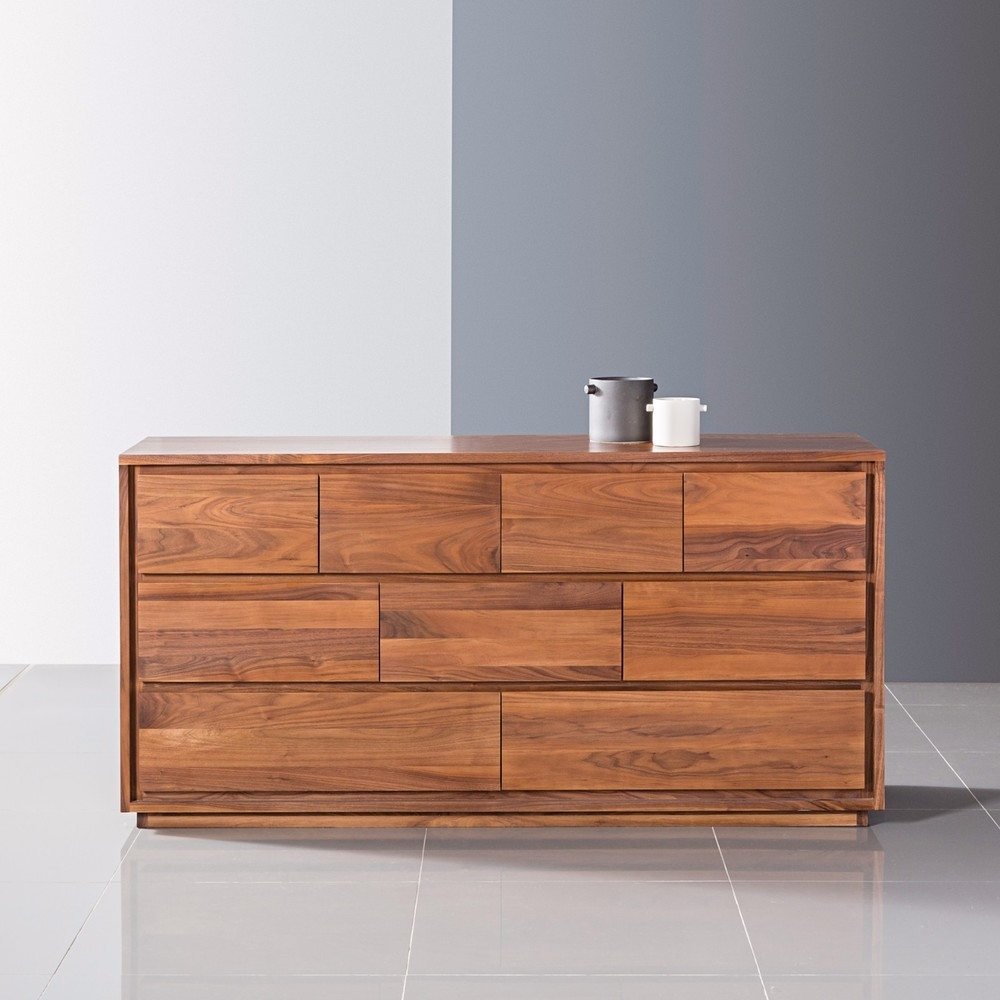 Inspiration about Tobias 9 Drawer Chest – Solid Walnut – 160X45X85Cm – Icondesign Within Newest Tobias 4 Door Sideboards (#7 of 20)