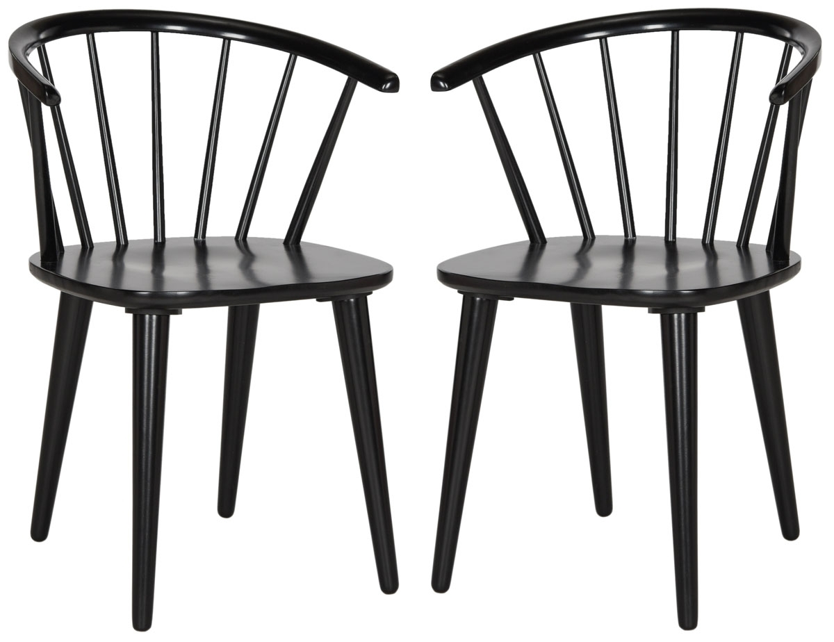 Trendy Amh8512A Set2 Dining Chairs – Furnituresafavieh With Regard To Hayden Ii Black Side Chairs (#19 of 20)