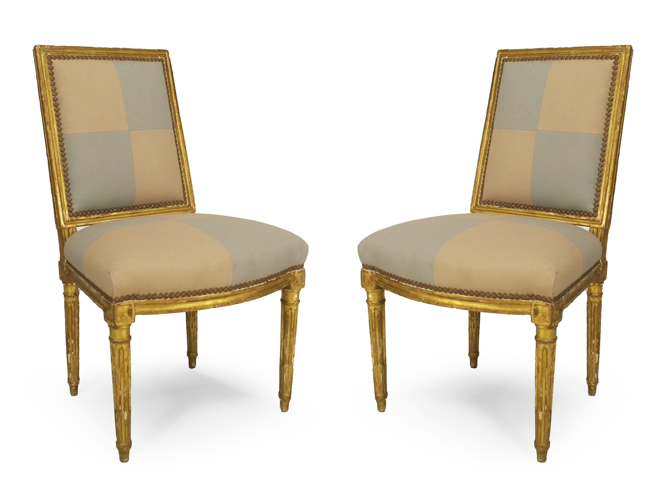 Trendy Amos Side Chairs Inside Pair Of French Louis Xvi (18th Cent) Gilt Side Chairs With Square (View 13 of 20)