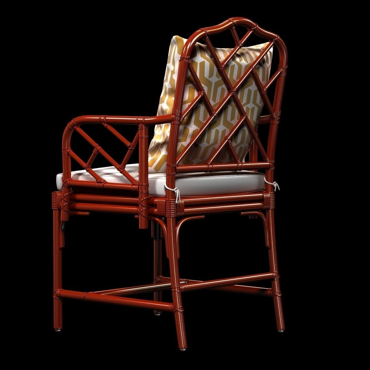 Trendy Ballard Macau Arm Chair In Deep Coral 3d Model (View 10 of 20)