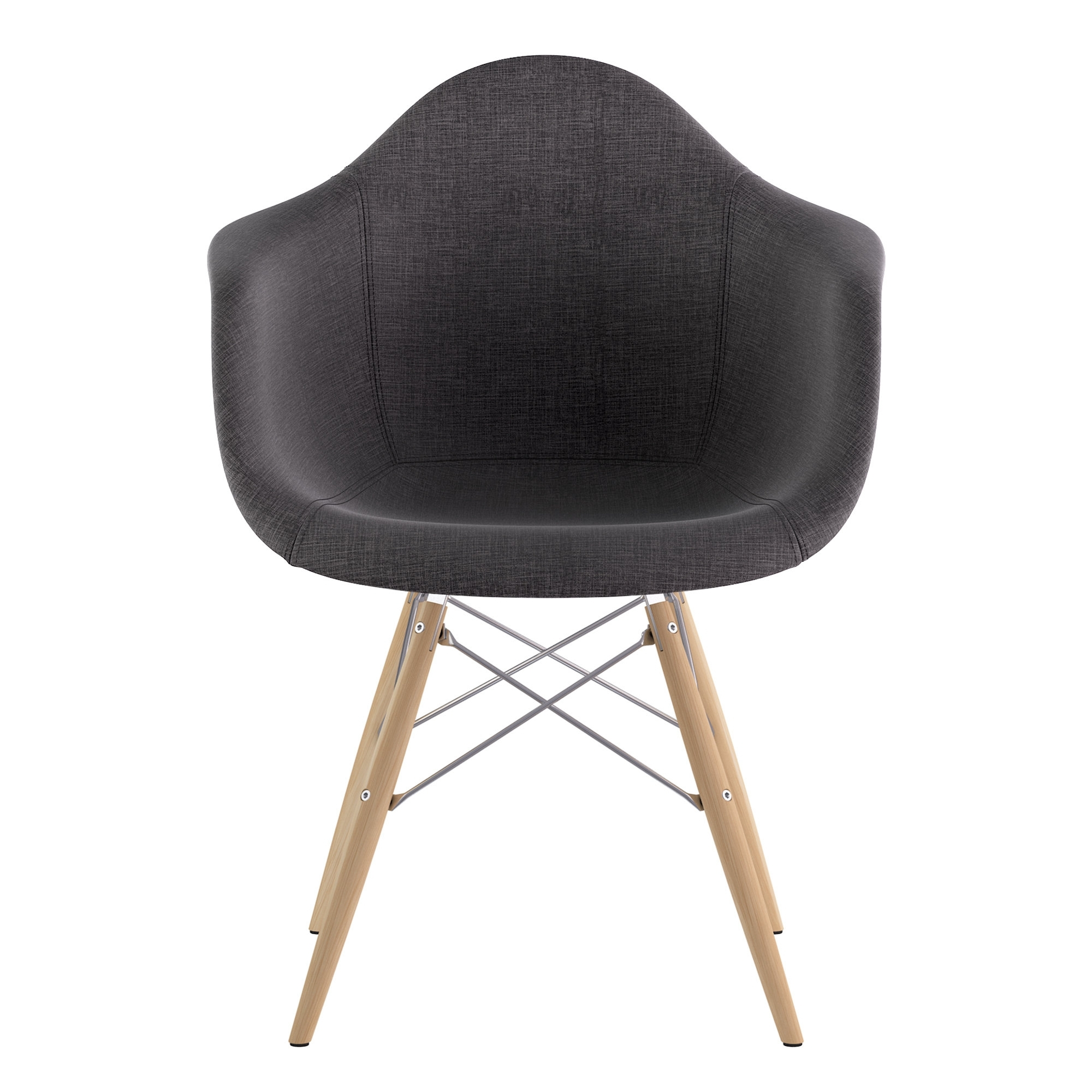Inspiration about Trendy Caira Black Upholstered Arm Chairs Pertaining To Nyekoncept Dowel Arm Chair (#19 of 20)