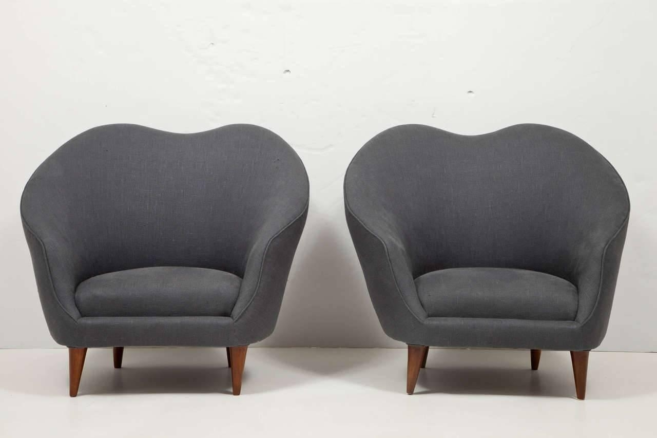 Trendy Caira Upholstered Arm Chairs Regarding Pair Of Upholstered Armchairsfederico Munari – Caira Mandaglio (#16 of 20)