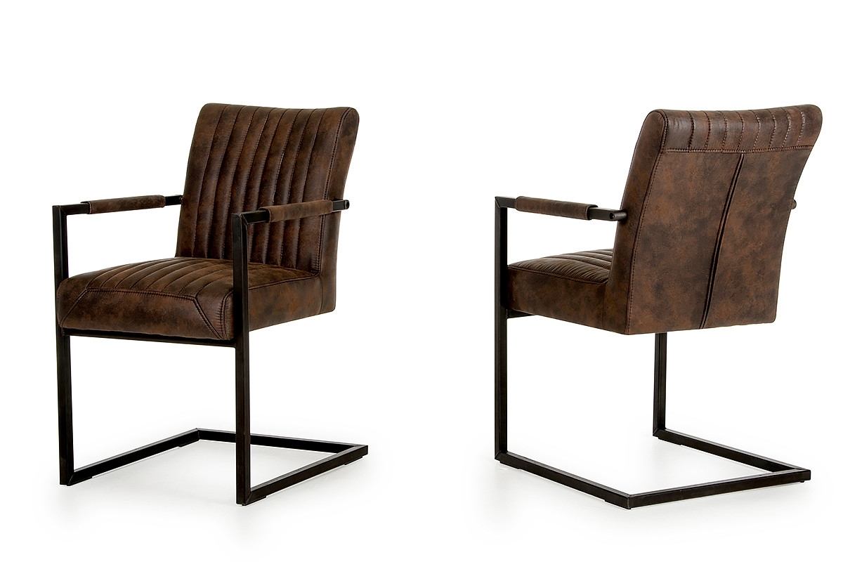 Trendy Marfa – Modern Cognac Dining Arm Chair (Set Of 2) Intended For Hayden Cognac Side Chairs (View 17 of 20)