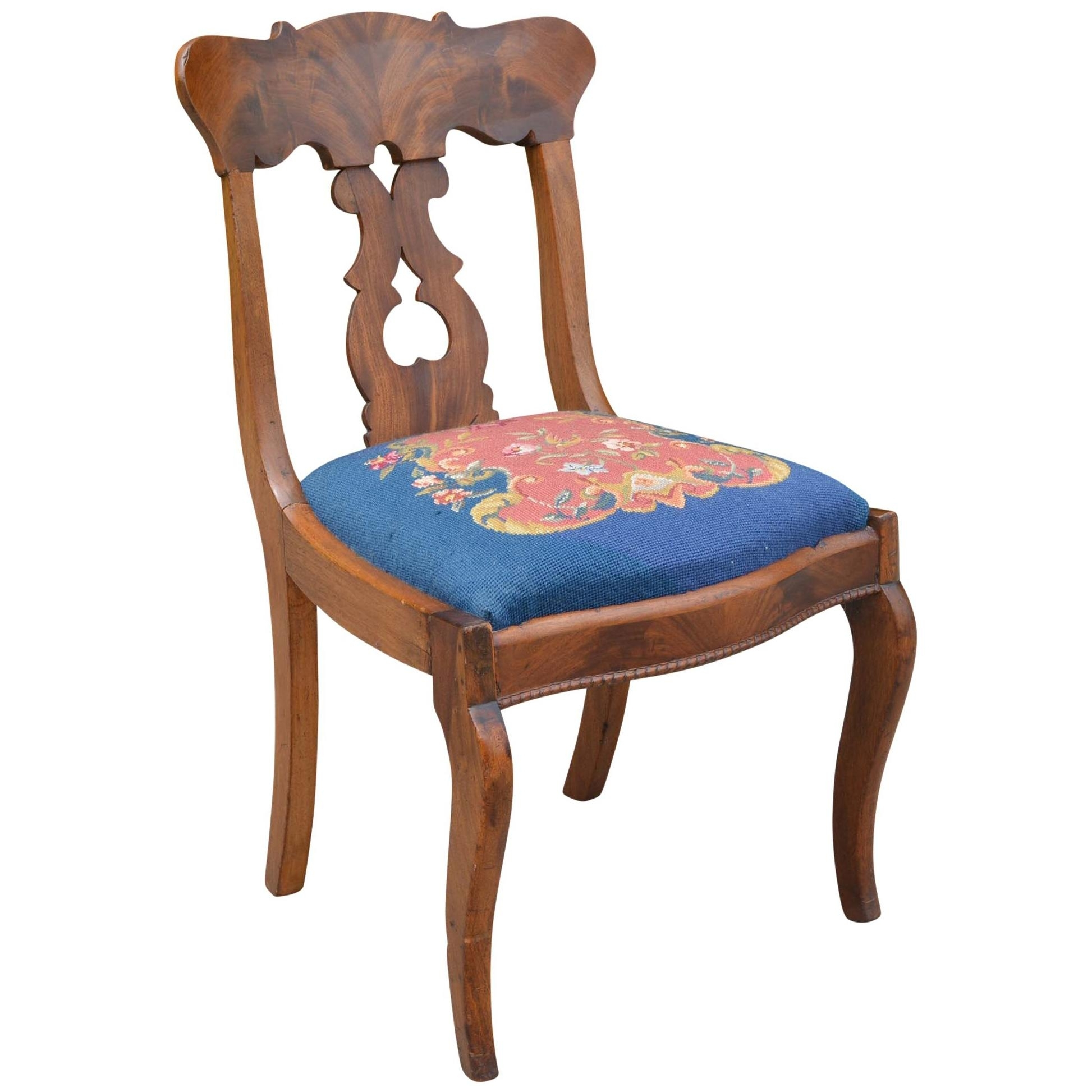 Trendy Mid Victorian Rocco Revival Rosewood Side Chair With Needlepoint Inside Rocco Side Chairs (#18 of 20)