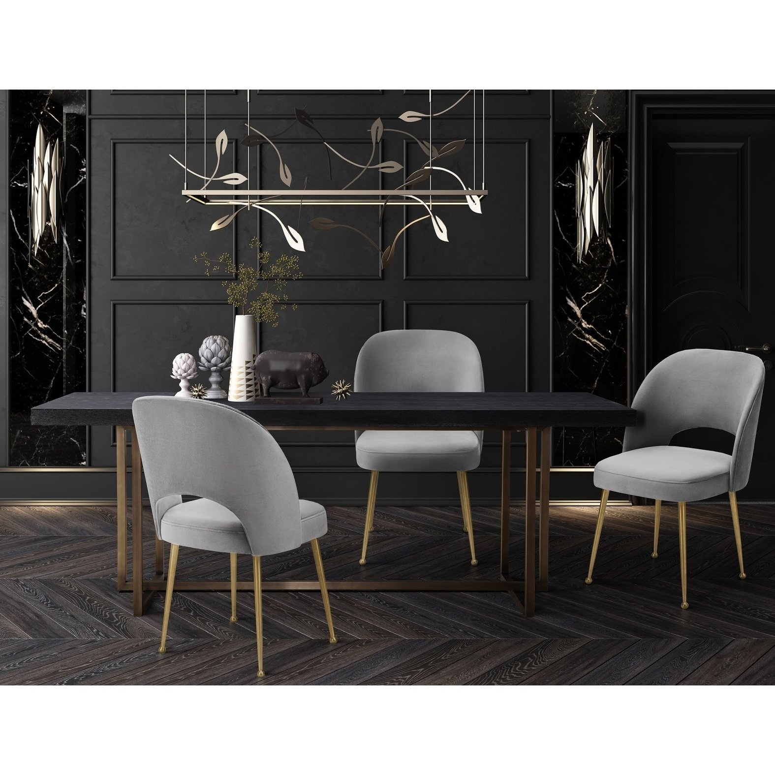 Inspiration about Trendy Shop Swell Light Grey Velvet Chair – Free Shipping Today – Overstock With Regard To Pilo Grey Side Chairs (#6 of 20)
