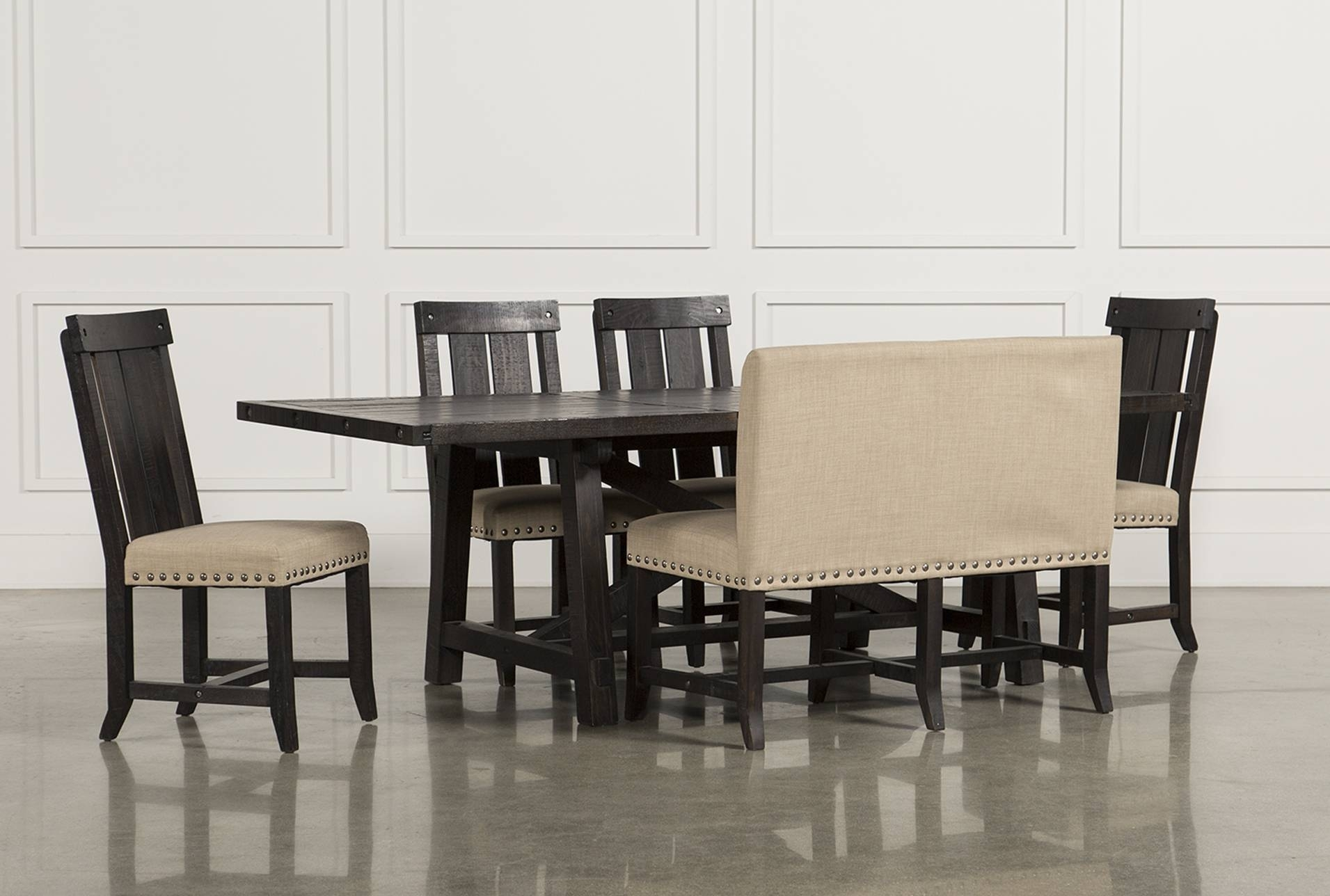 Trendy Showy Bench Philippines Table Set Bench Jaxon Piece Rectangle Set With Jaxon Wood Side Chairs (#17 of 20)