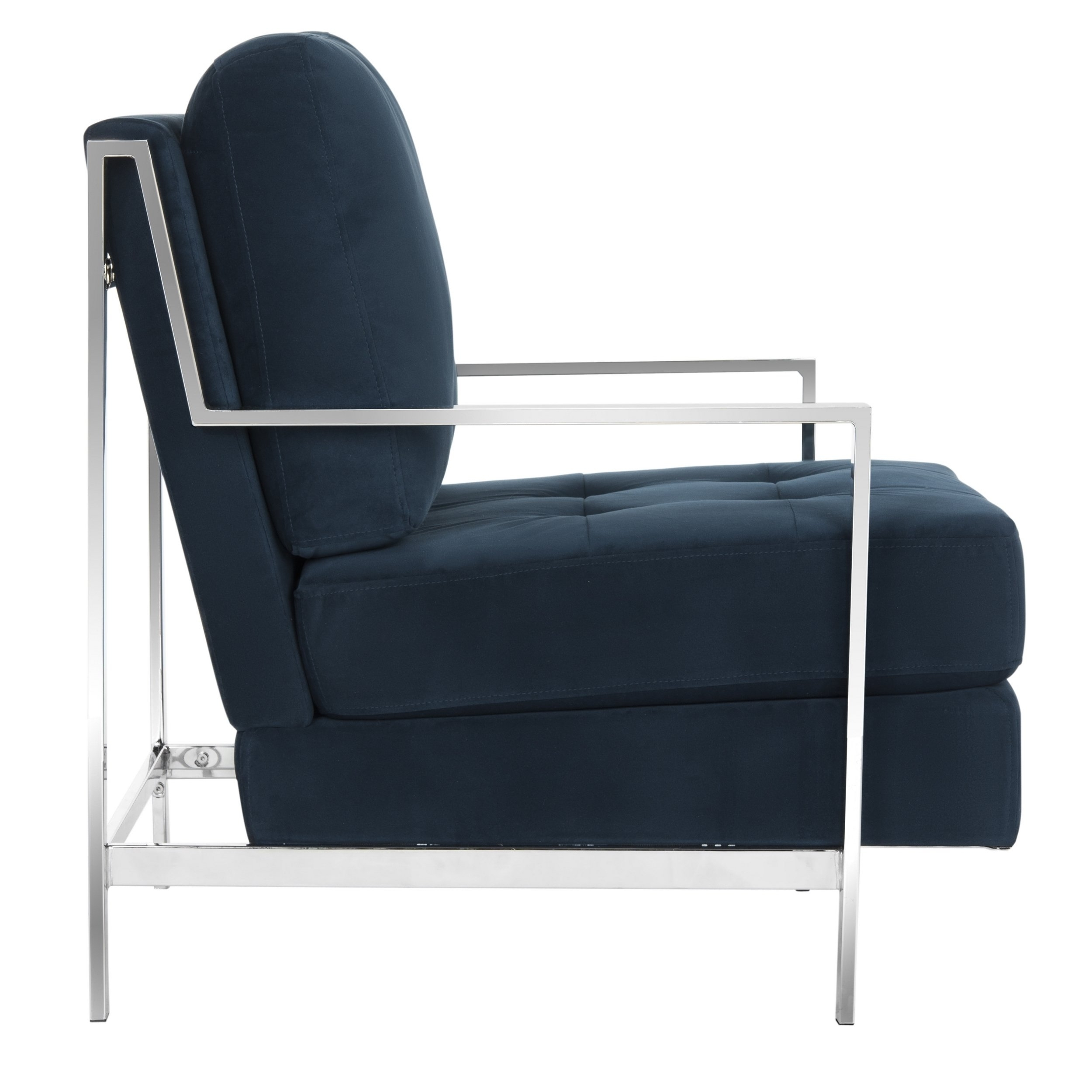Trendy Walden Upholstered Arm Chairs In Shop Mid Century Modern Glam Velvet Navy Blue Club Chair – Free (#13 of 20)