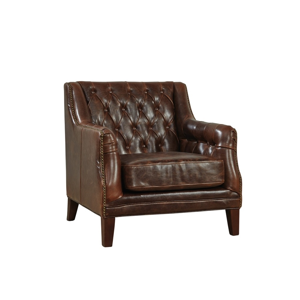 Tufted Leather Lounge Chair – Club – Furniture Classics (View 19 of 20)