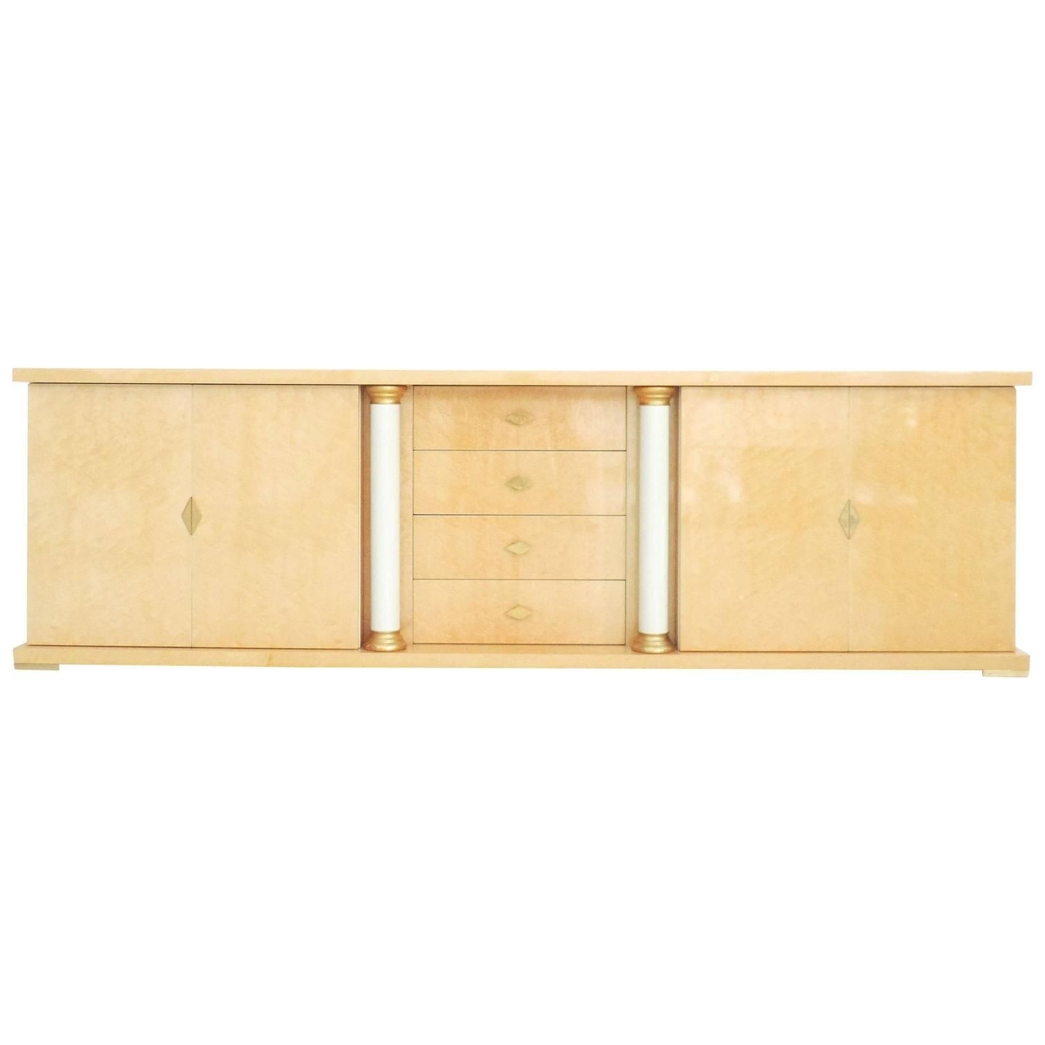 Inspiration about Turri Italian Bird's Eye Maple Brass Gold Sideboard Credenza Intended For Newest Rossi Large Sideboards (#17 of 20)