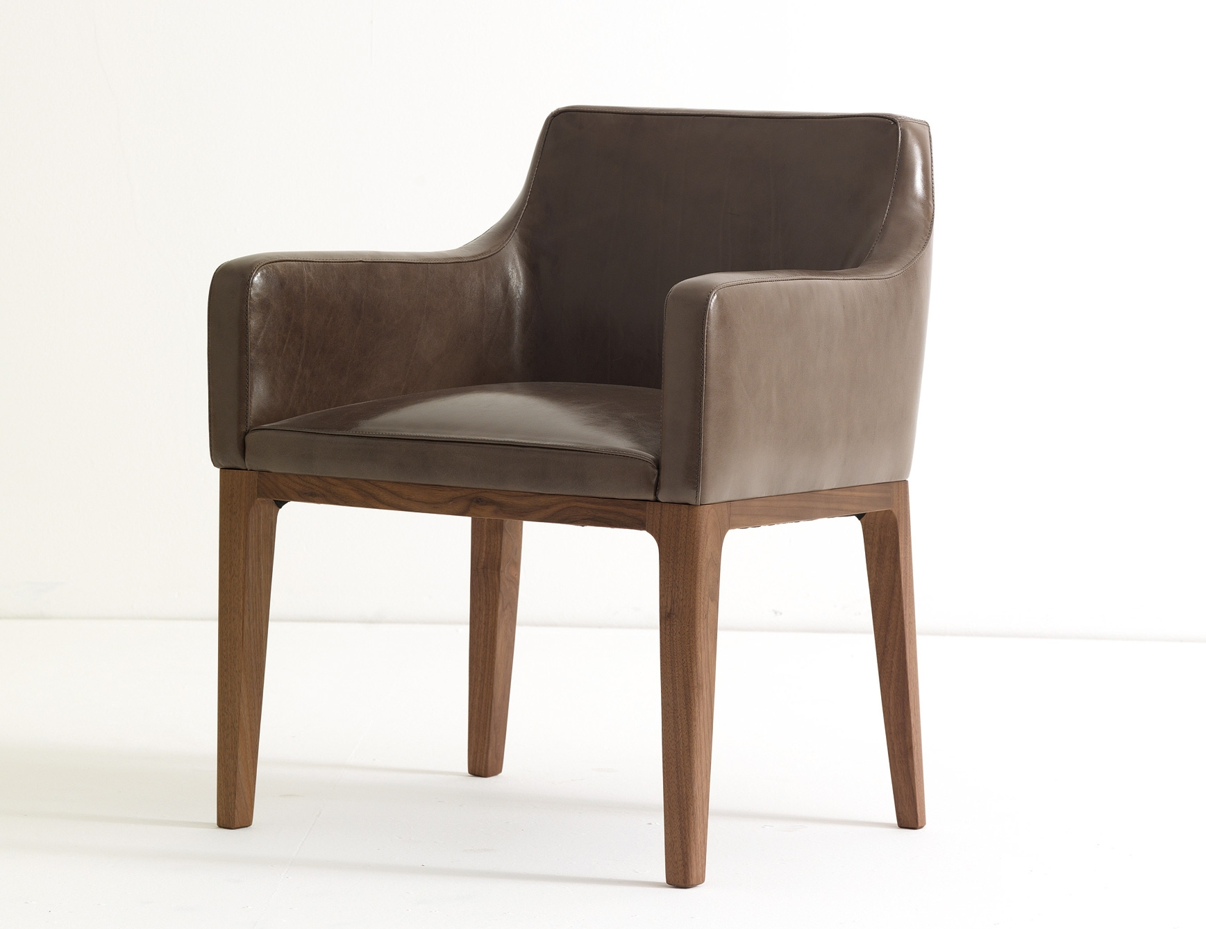 Ulivi Lola Dining Armchair Brown Leather (View 17 of 20)