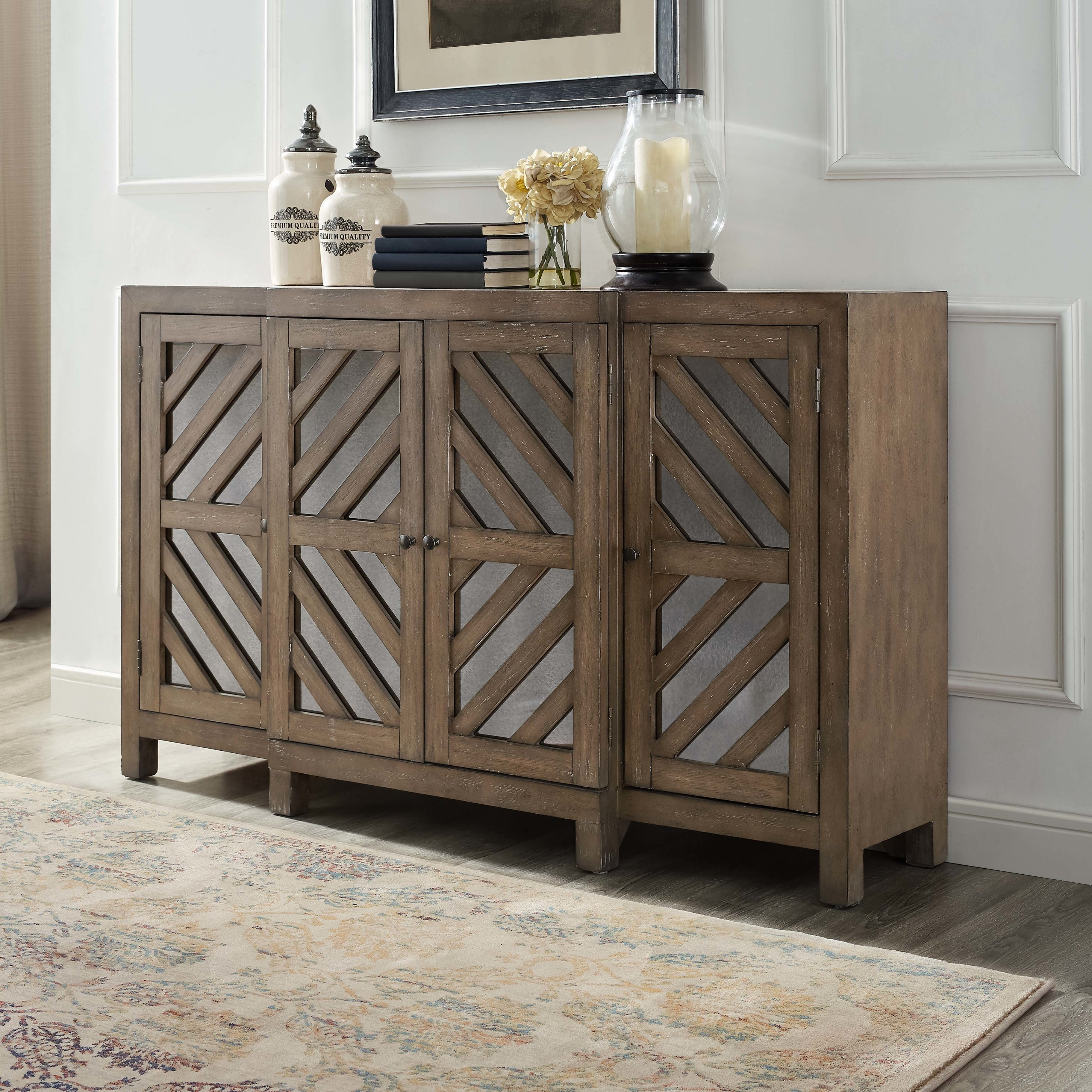 Inspiration about Union Rustic Lowrey 4 Door Credenza & Reviews | Wayfair Intended For Recent Vintage Finish 4 Door Sideboards (#6 of 20)