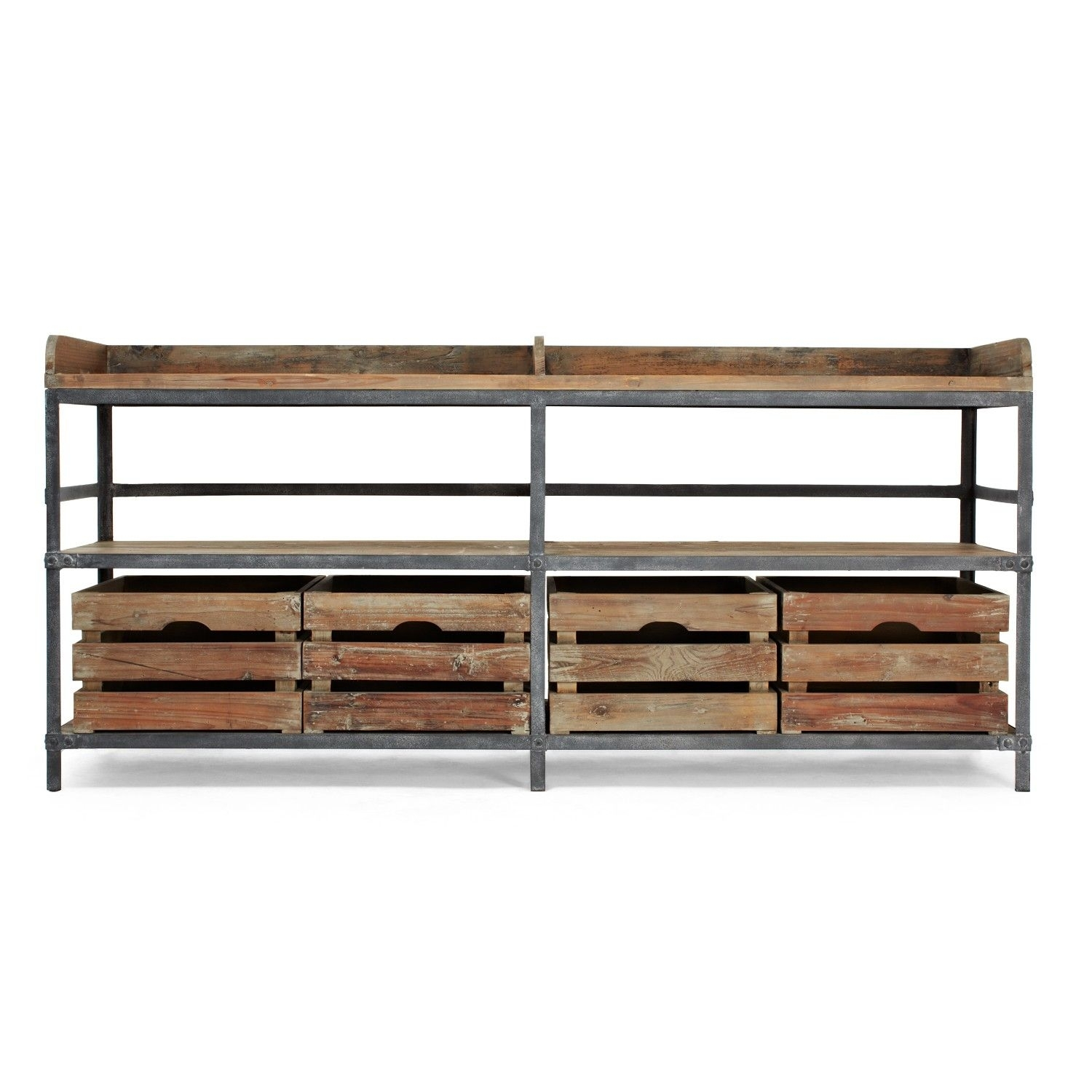 Inspiration about Urbn 2.0 Reclaimed Pine & Metal Sideboard | Dining Room | Pinterest Intended For 2018 Metal Framed Reclaimed Wood Sideboards (#14 of 20)