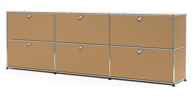 Inspiration about Usm Haller Sideboard Xl, Customisable, Usm Beige, With 3 Drop Down Regarding Current 3 Door 3 Drawer Metal Inserts Sideboards (#14 of 20)