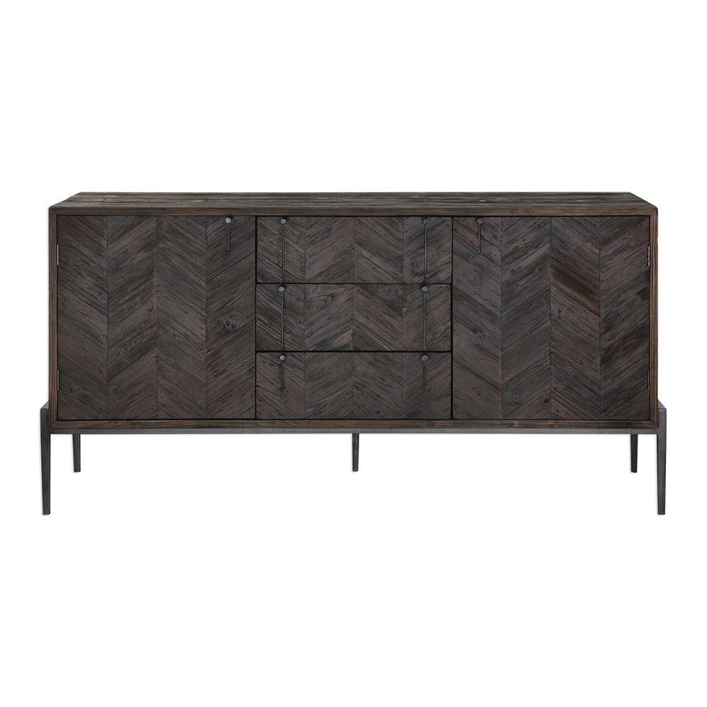 Inspiration about Uttermost – Mavis, Sideboard, 73 W X 37 H X 20 D | Pf Office Intended For Current Gunmetal Perforated Brass Sideboards (#6 of 20)
