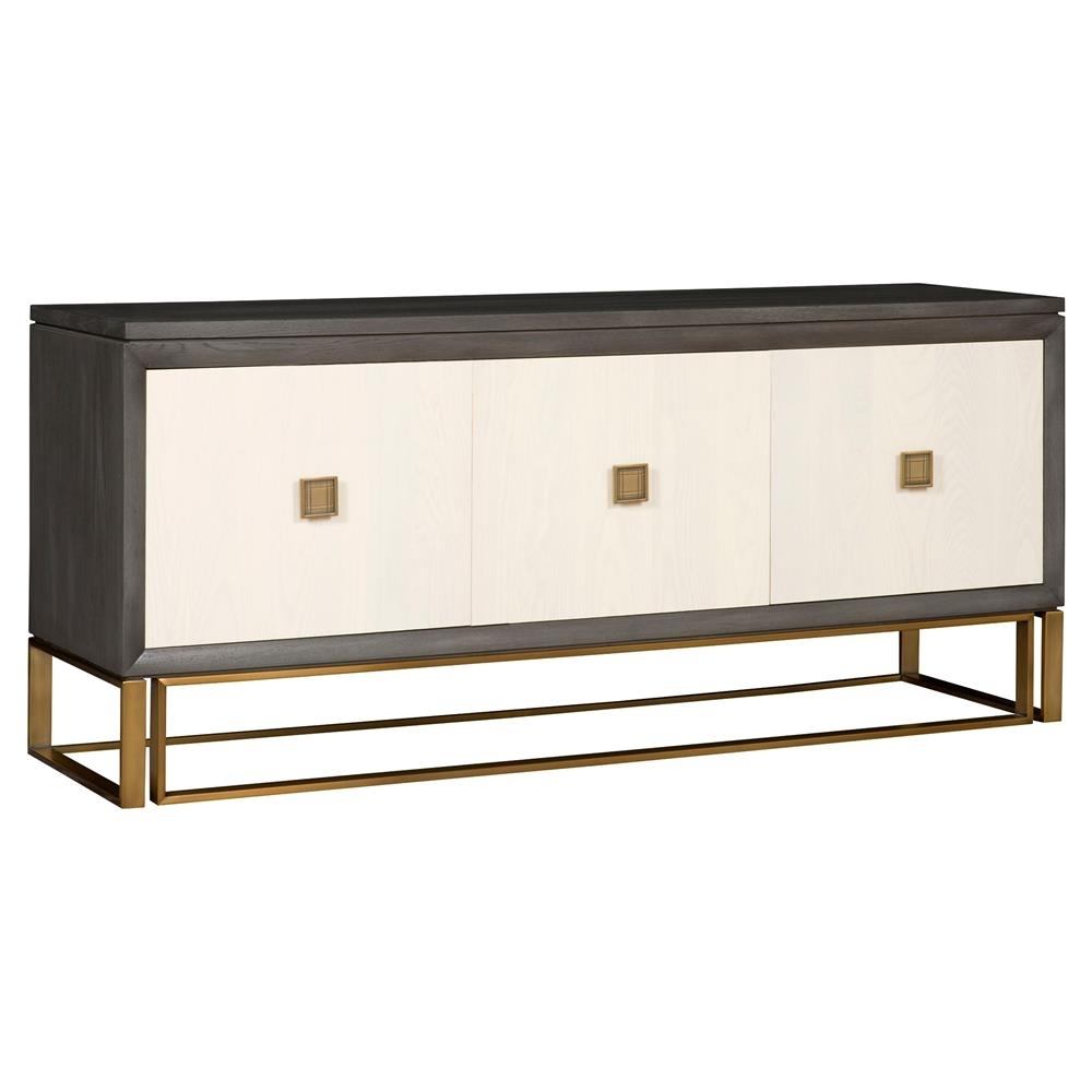 Inspiration about Vanguard Wallace Modern Classic Ash Solids Stain Brass 3 Door Sideboard Throughout Recent Square Brass 4 Door Sideboards (#14 of 20)