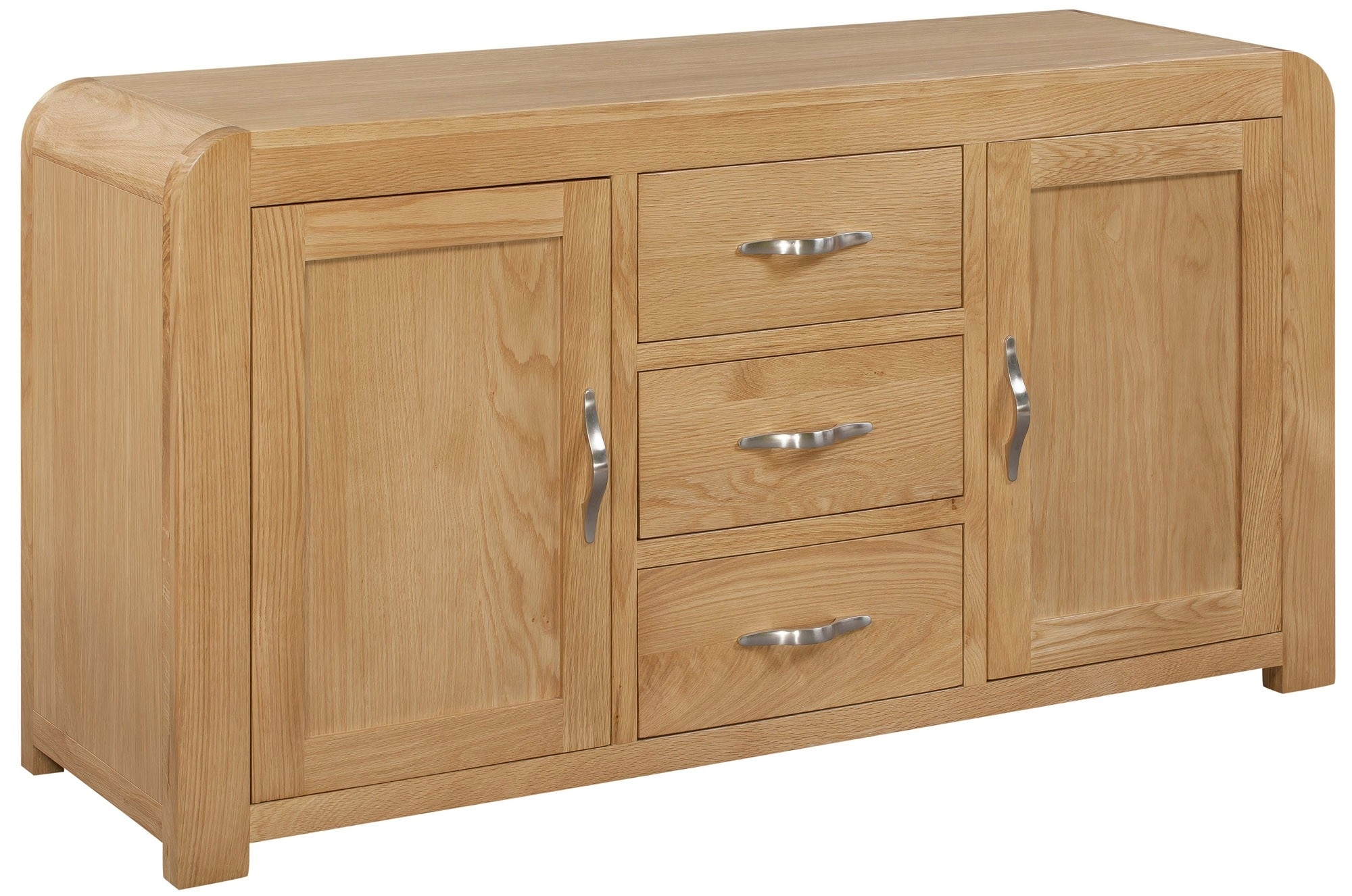 Venice Sideboard With 2 Doors & 3 Drawers – Venice Oak Range – Shop Inside Current Antique White Distressed 3 Drawer/2 Door Sideboards (#20 of 20)