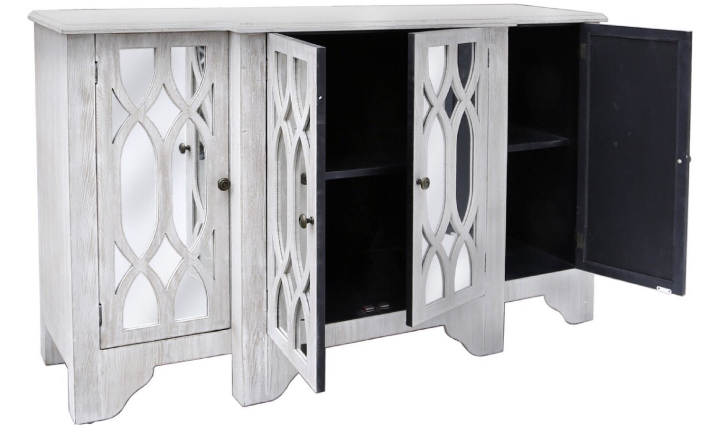 Venice Washed Ash 4 Door Sideboard – Furco Intended For 2018 White Wash 4 Door Sideboards (View 17 of 20)
