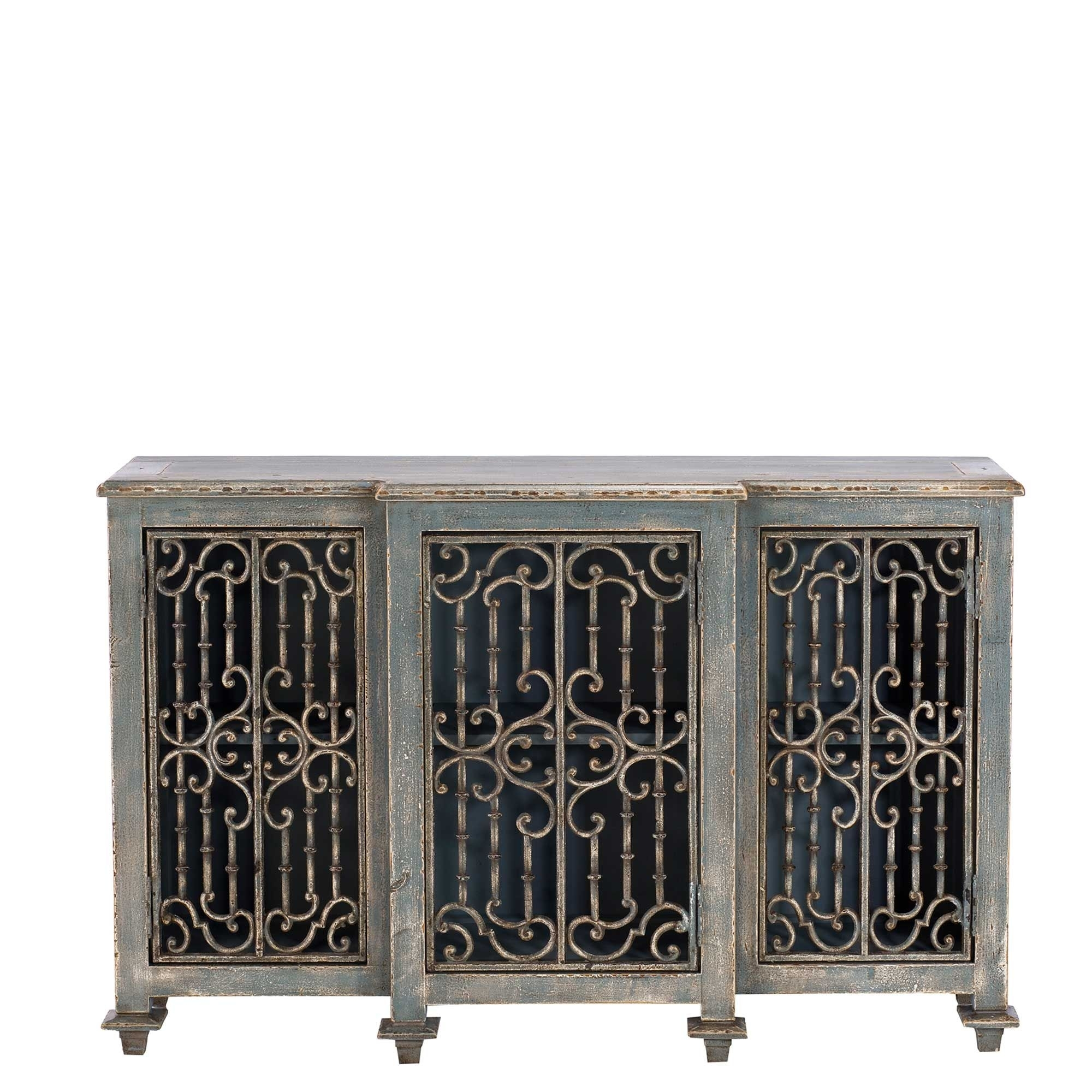 Inspiration about Versaille Reclaimed Wood And Cast Iron Sideboard, Grey | Tables Pertaining To Newest Iron Pine Sideboards (#6 of 20)