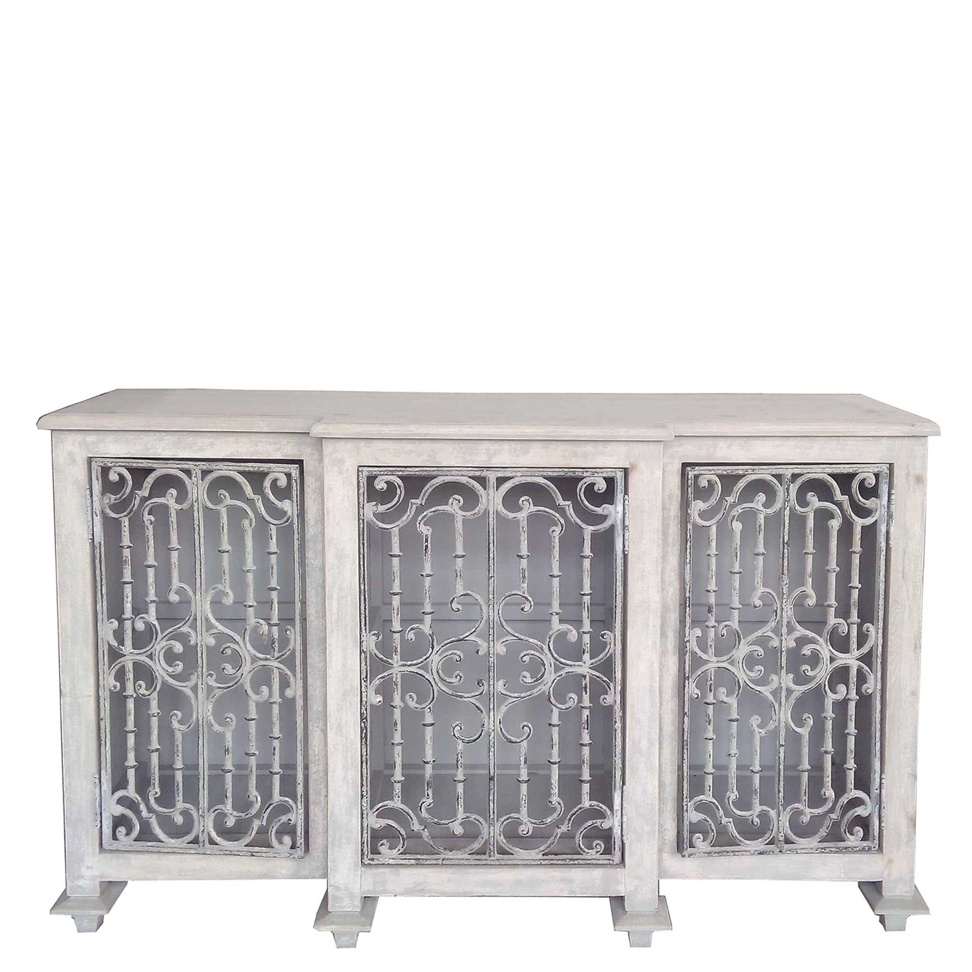 Versaille Reclaimed Wood And Cast Iron Sideboard, Pine | Sideboards For Recent Iron Sideboards (#19 of 20)