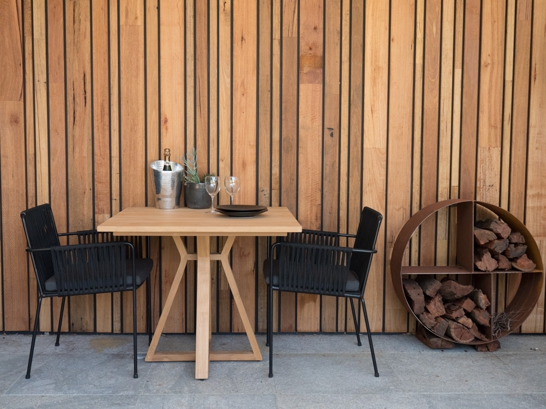 Inspiration about Vespa Side Chairs With Regard To Newest Vespa Rope Armchair Outdoor Dining Chair Satara (#18 of 20)