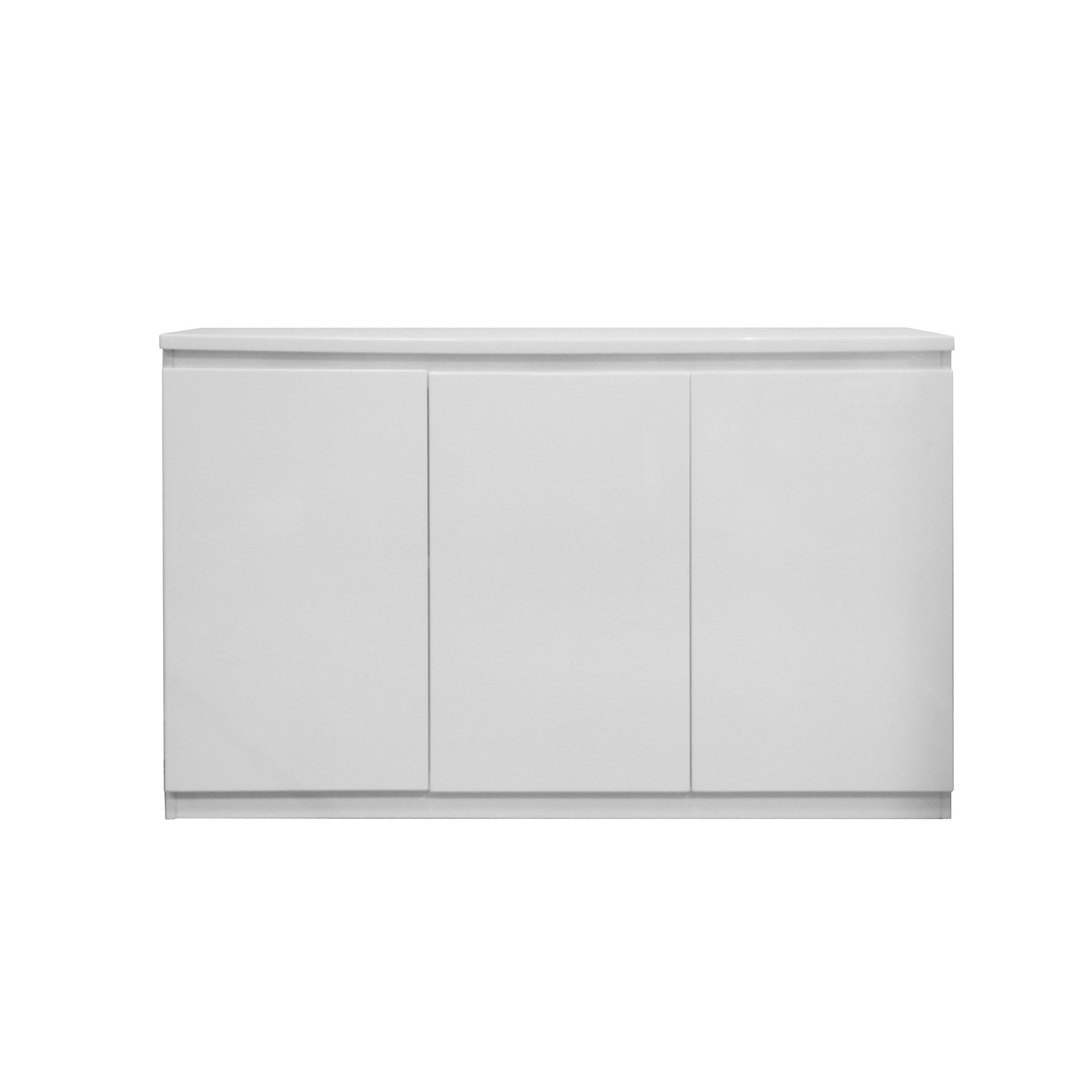 Vigo High Gloss White 3 Door Sideboard Pertaining To Current White Wash 3 Door 3 Drawer Sideboards (View 16 of 20)