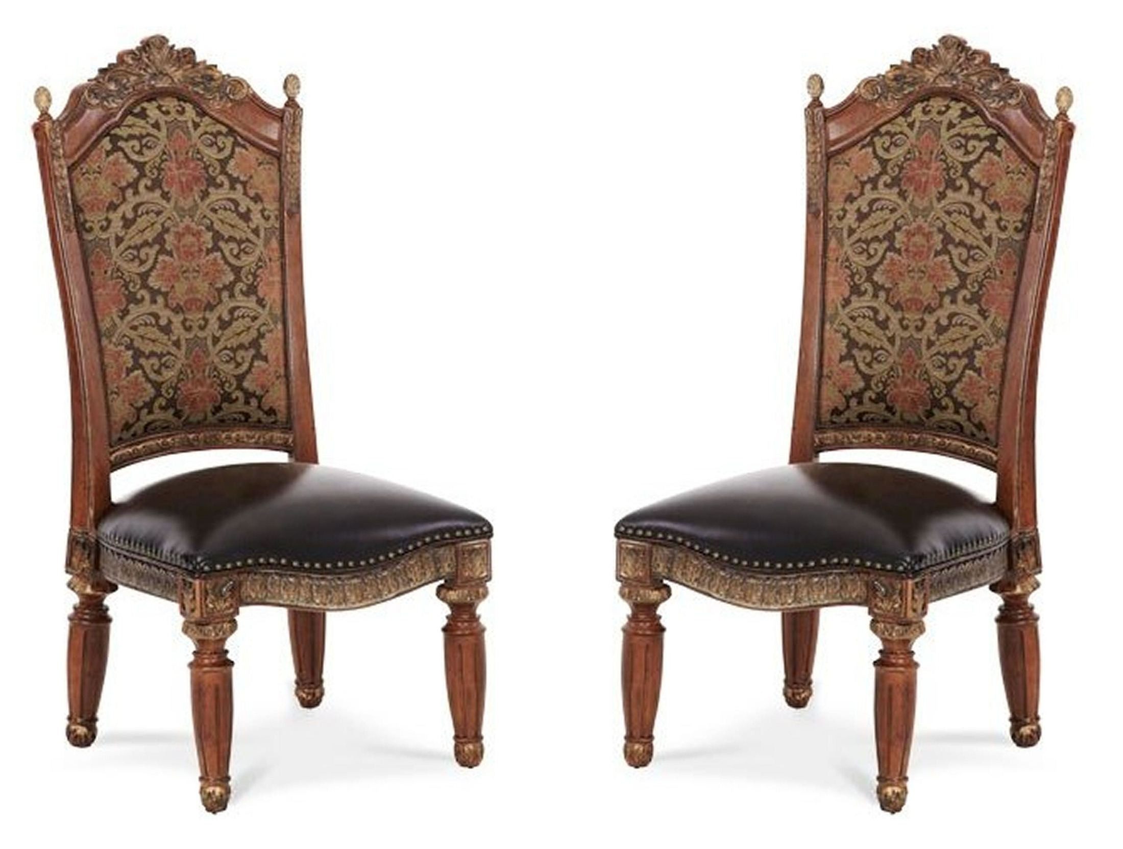 Villa Valencia Side Chair Set Of 2 From Aico (72003 55) (View 3 of 20)