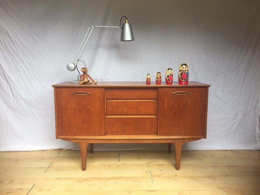 Vintage 1960S Jentique Sideboard Cabinet Mid Century Teak Compact In Newest Norwood Sideboards (View 3 of 20)