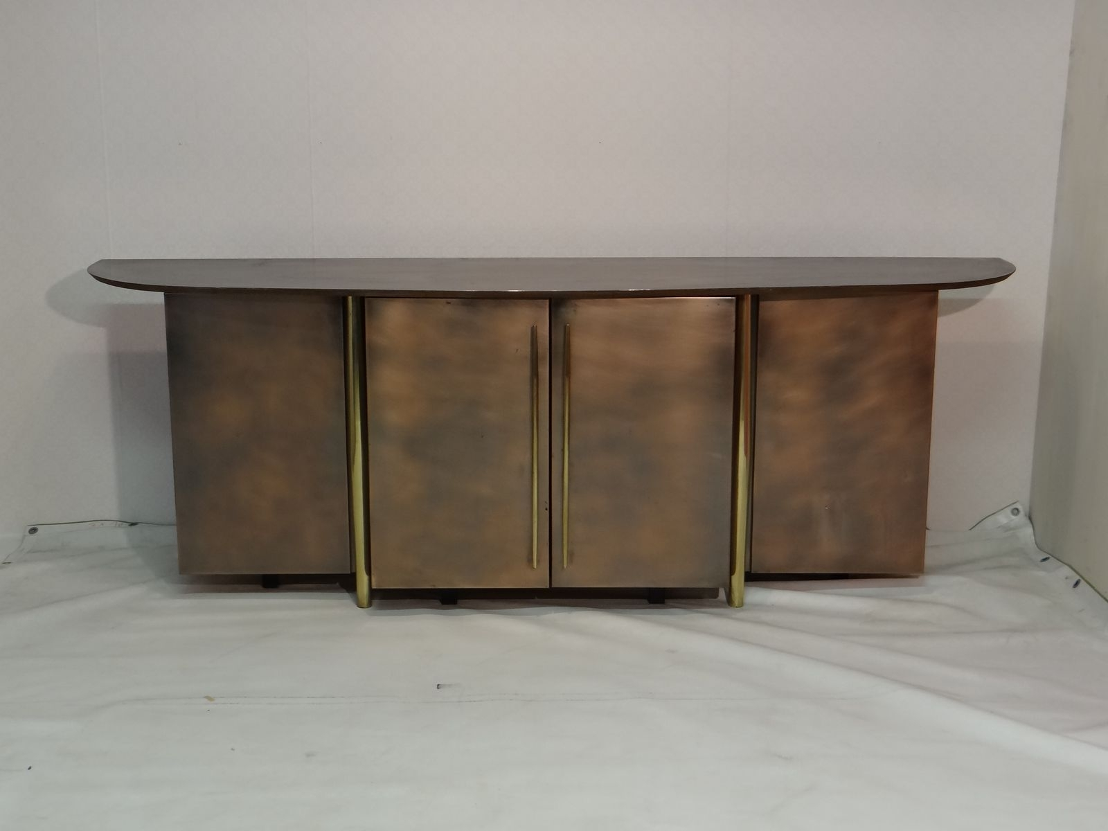 Vintage Brass Sideboard From Belgo Chrom For Sale At Pamono In Current Aged Brass Sideboards (View 6 of 20)
