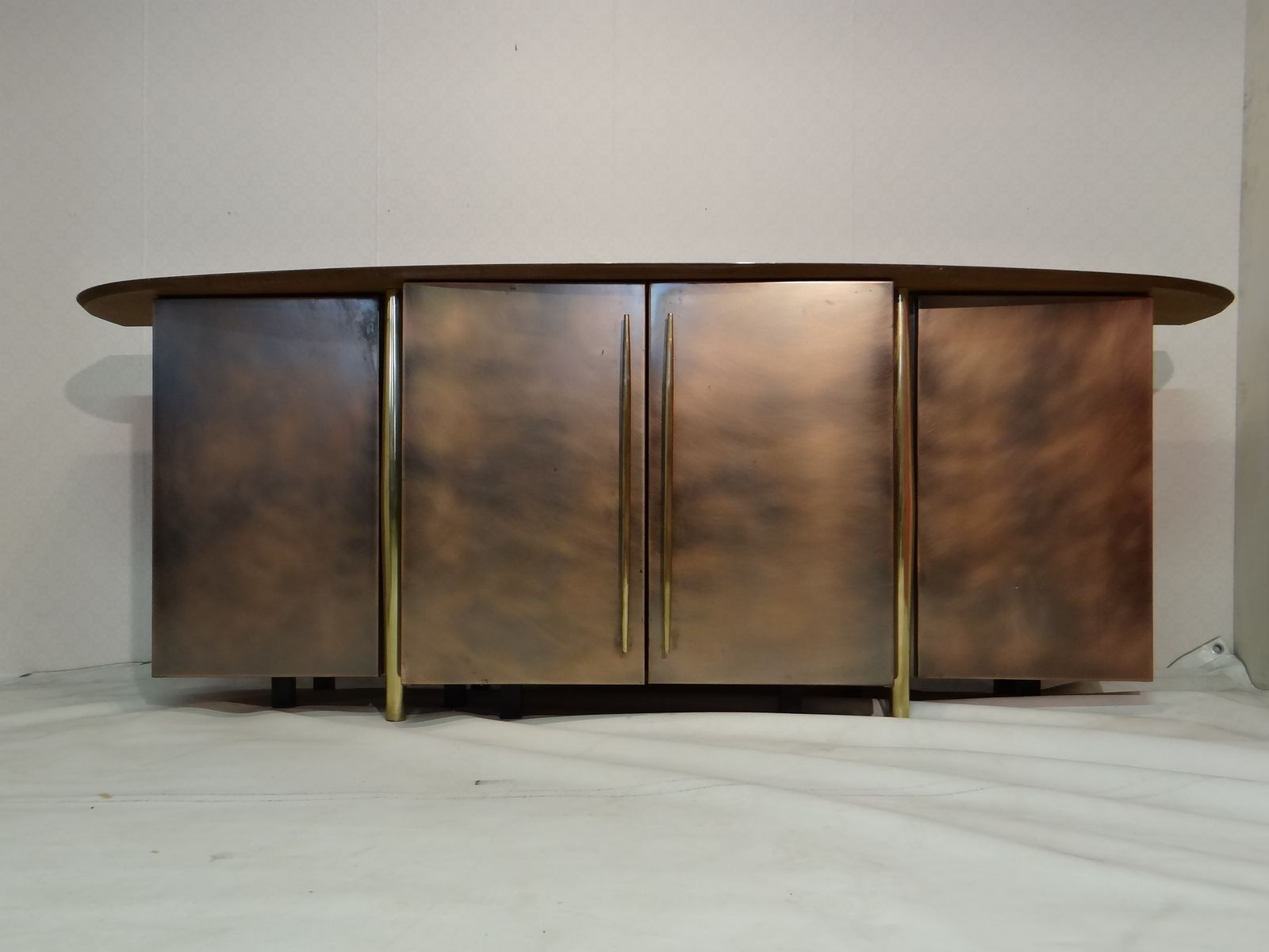 Vintage Brass Sideboard From Belgo Chrom For Sale At Pamono With Most Up To Date Aged Brass Sideboards (View 8 of 20)