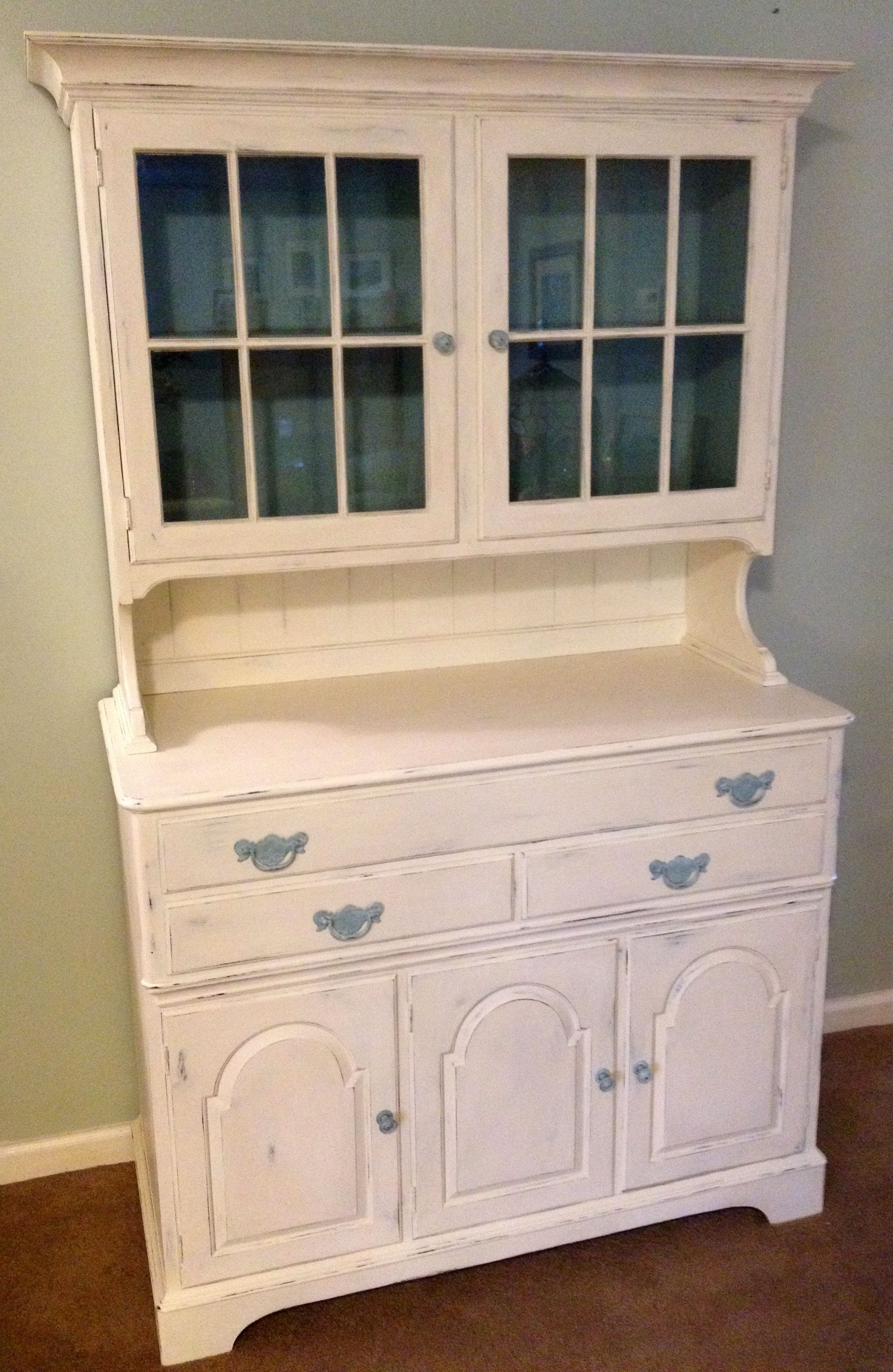 Inspiration about Vintage Pennsylvania House Hutch Painted With A Slightly Distressed Inside 2018 Cass 2 Door Sideboards (#14 of 20)