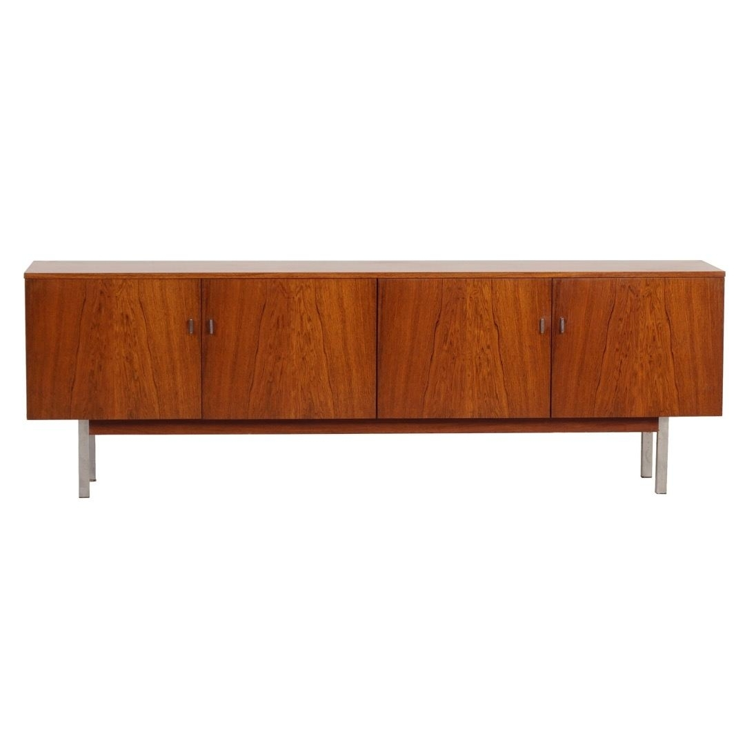 Inspiration about Vintage Sideboard Made Of Rosewood, 1960S – Ztijl Design Throughout Most Up To Date Vintage Brown Textured Sideboards (#6 of 20)