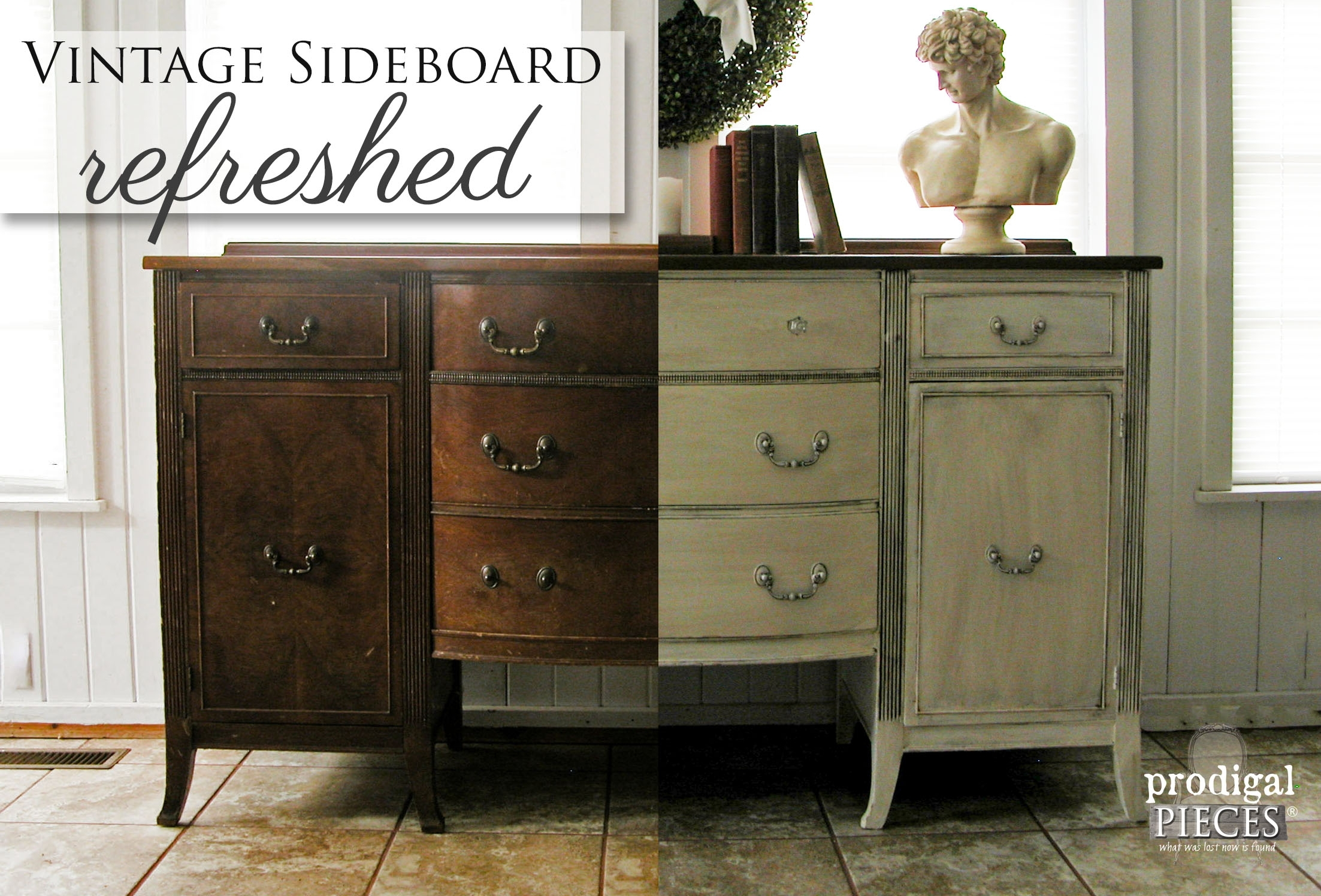 Inspiration about Vintage Sideboard Refreshed – Prodigal Pieces Intended For 2018 Vintage Brown Textured Sideboards (#14 of 20)