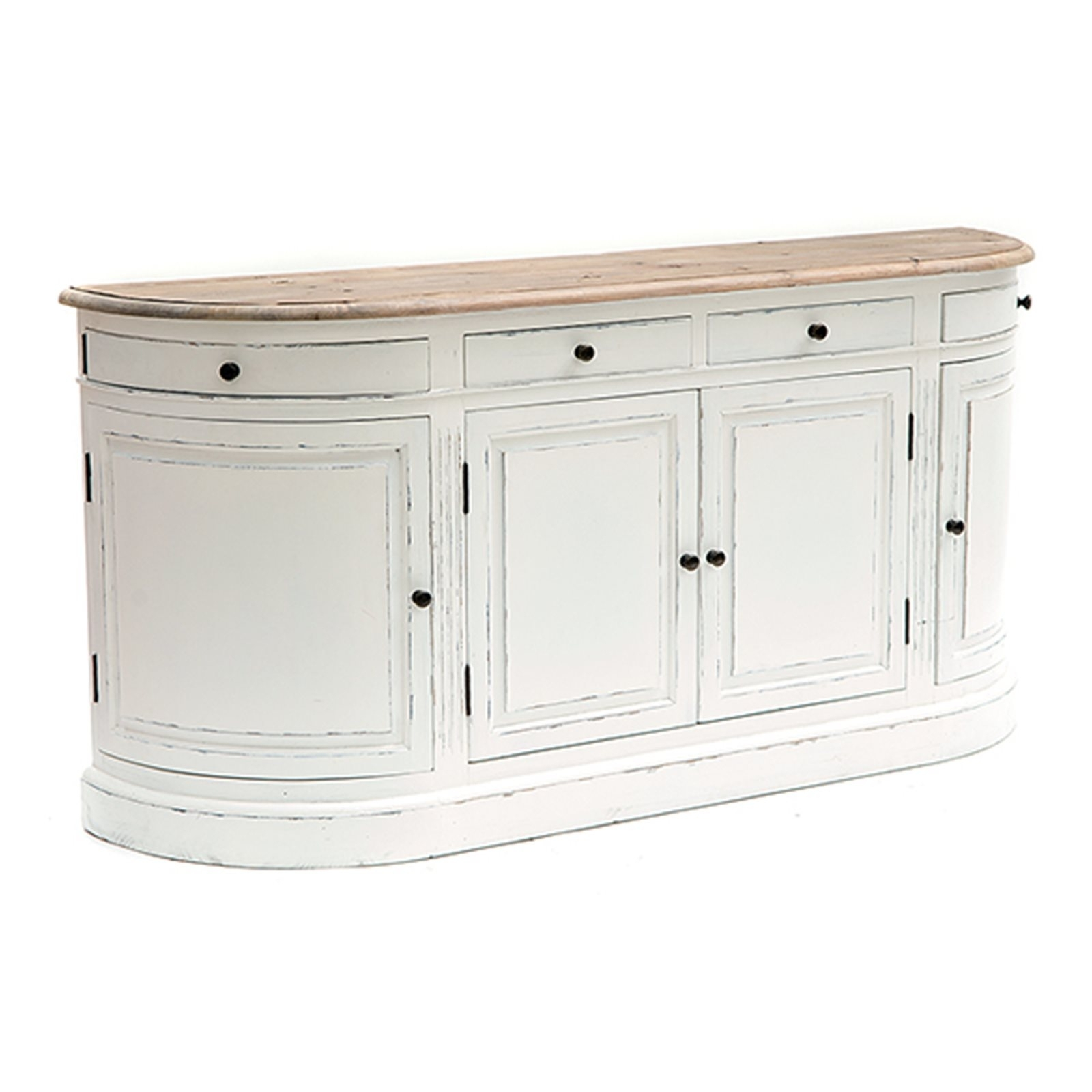 Inspiration about Vintage White Empire Curved Sideboard With Regard To Newest White Wash 2 Door Sideboards (#18 of 20)