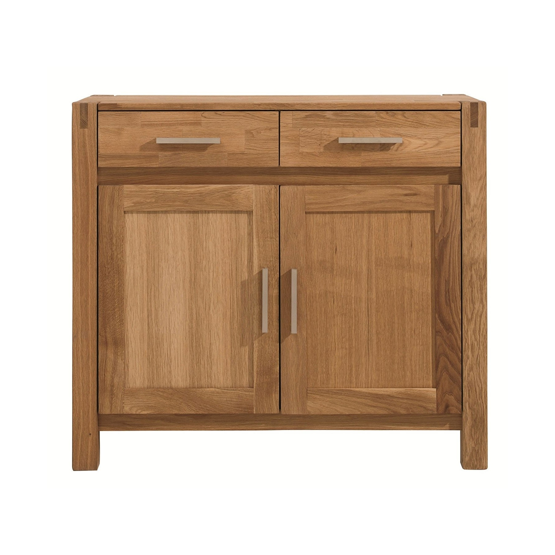 Inspiration about Viscount Oiled Oak 2 Door Sideboard Throughout Current Burn Tan Finish 2 Door Sideboards (#3 of 20)