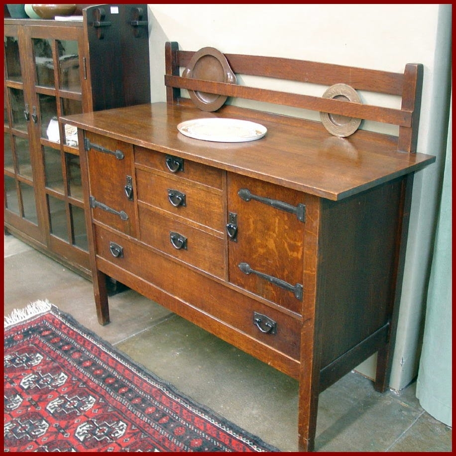 Inspiration about Voorhees Craftsman Mission Oak Furniture – Buffets Throughout Most Recently Released Craftsman Sideboards (#5 of 20)