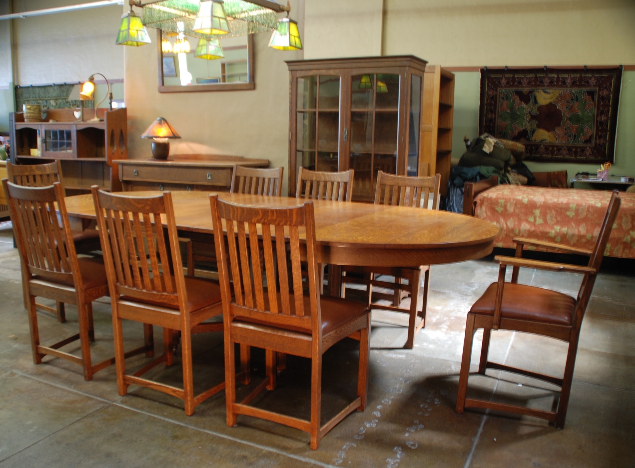 Voorhees Craftsman Mission Oak Furniture – Lifetime Furniture With Regard To Preferred Craftsman Side Chairs (#18 of 20)